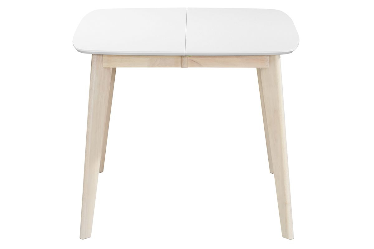 Favorite Leena Scandinavian Extendable Square Dining Table In White In Ingred Extending Dining Tables (View 25 of 25)