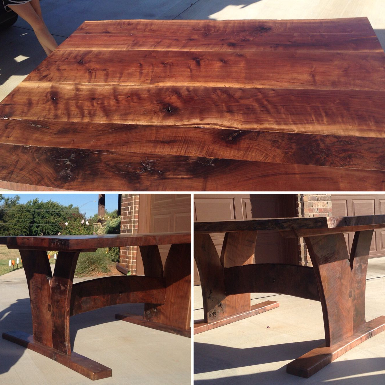 Figured Walnut Live Edge Table (View 6 of 25)