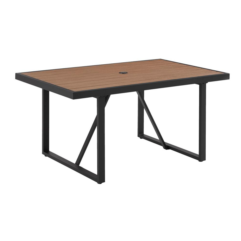 Hampton Bay West Park Aluminum Outdoor Patio Dining Table with regard to Latest West Dining Tables