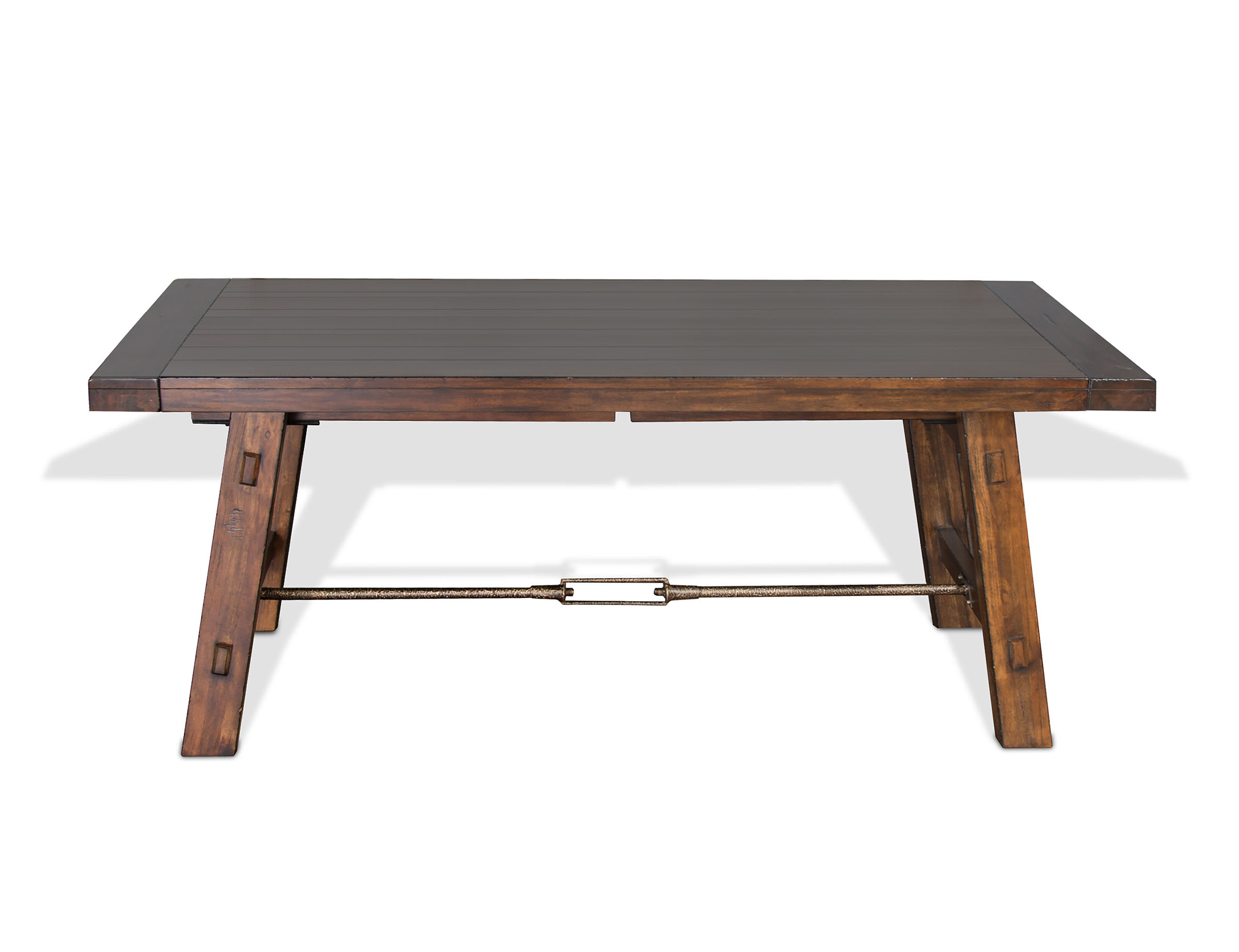 Hardin Extendable Solid Wood Dining Table with Preferred Blackened Oak Benchwright Extending Dining Tables