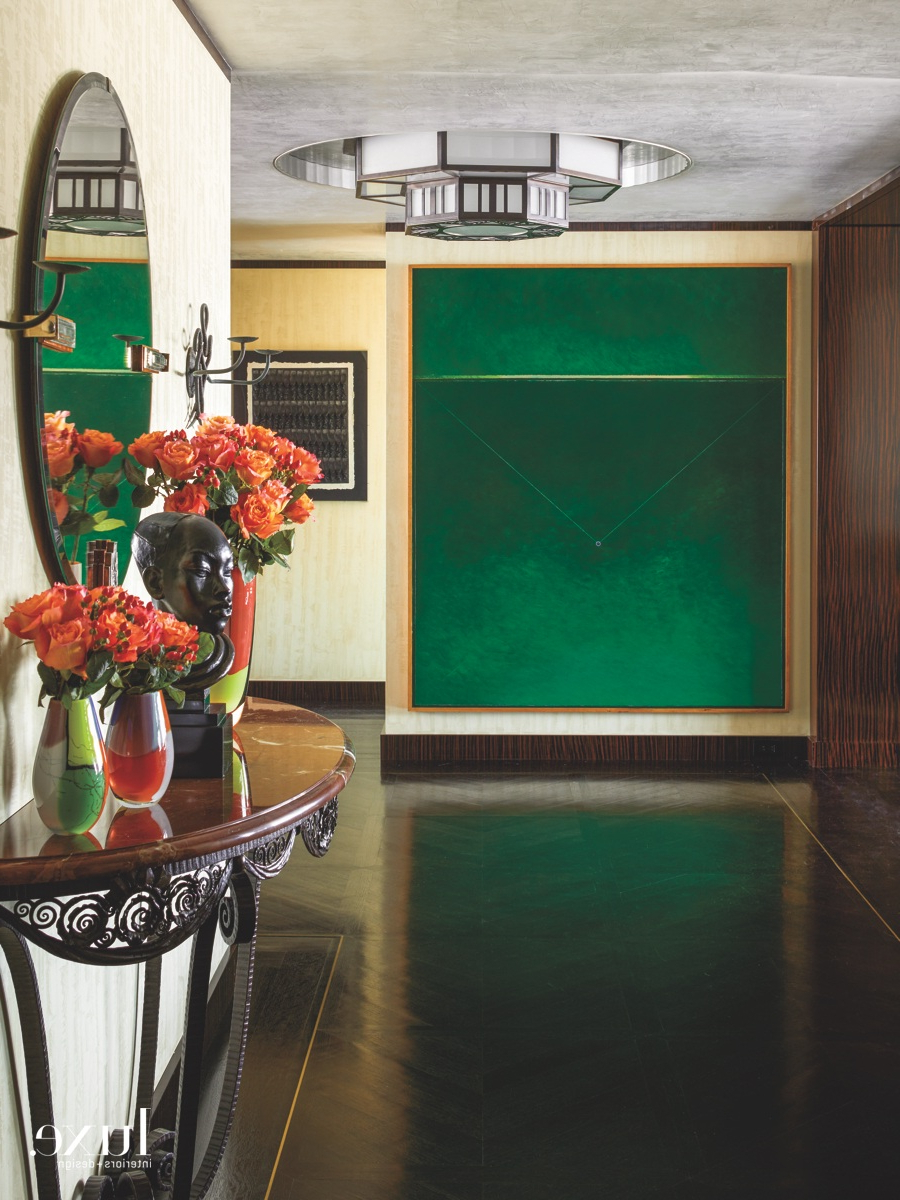 Herran Dining Tables in Well known Yacht-Like Interiors Finish An Elegant Nyc Apartment