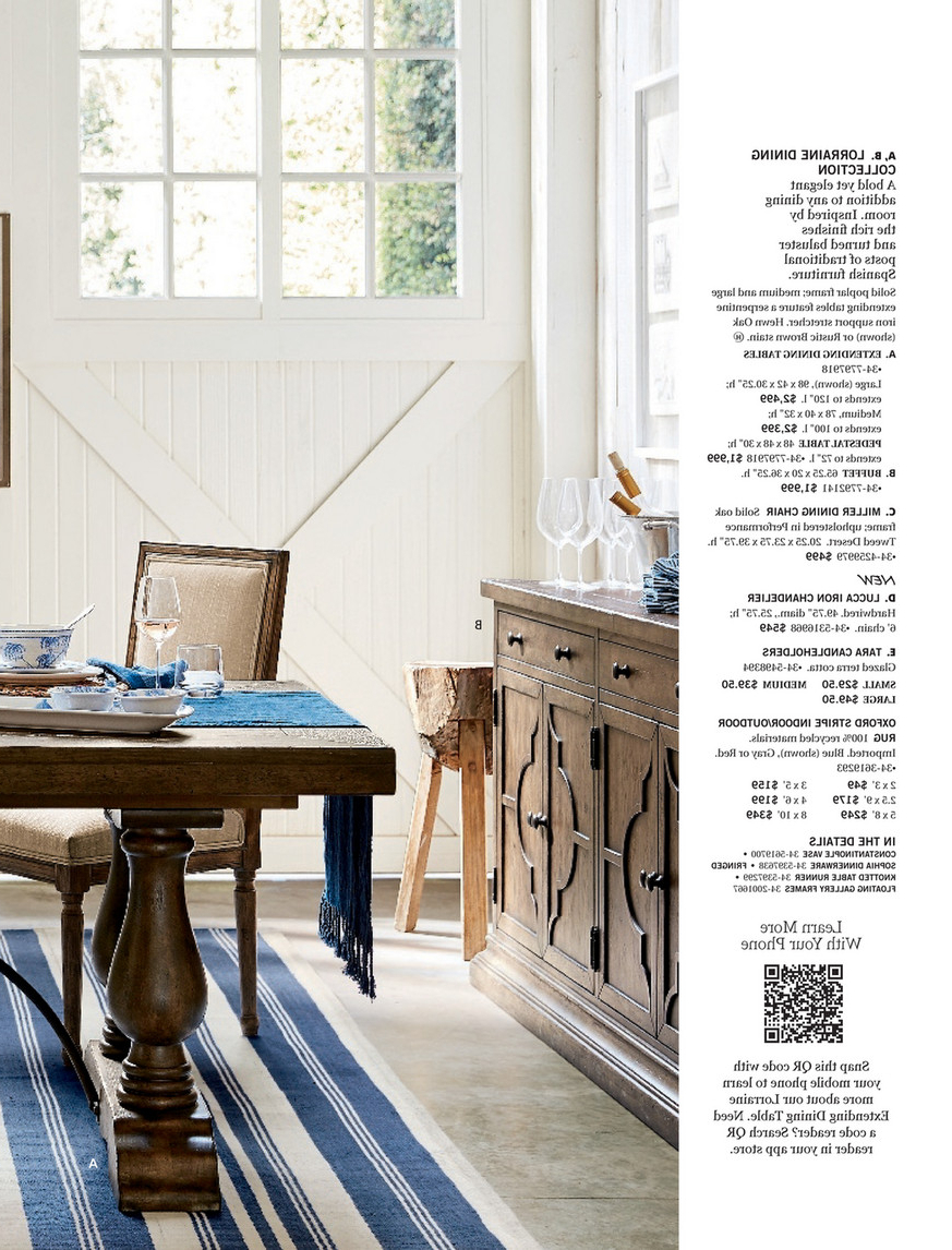 Hewn Oak Lorraine Extending Dining Tables intended for Famous Pottery Barn - Spring 2017 D1 - Lorraine Extending Dining