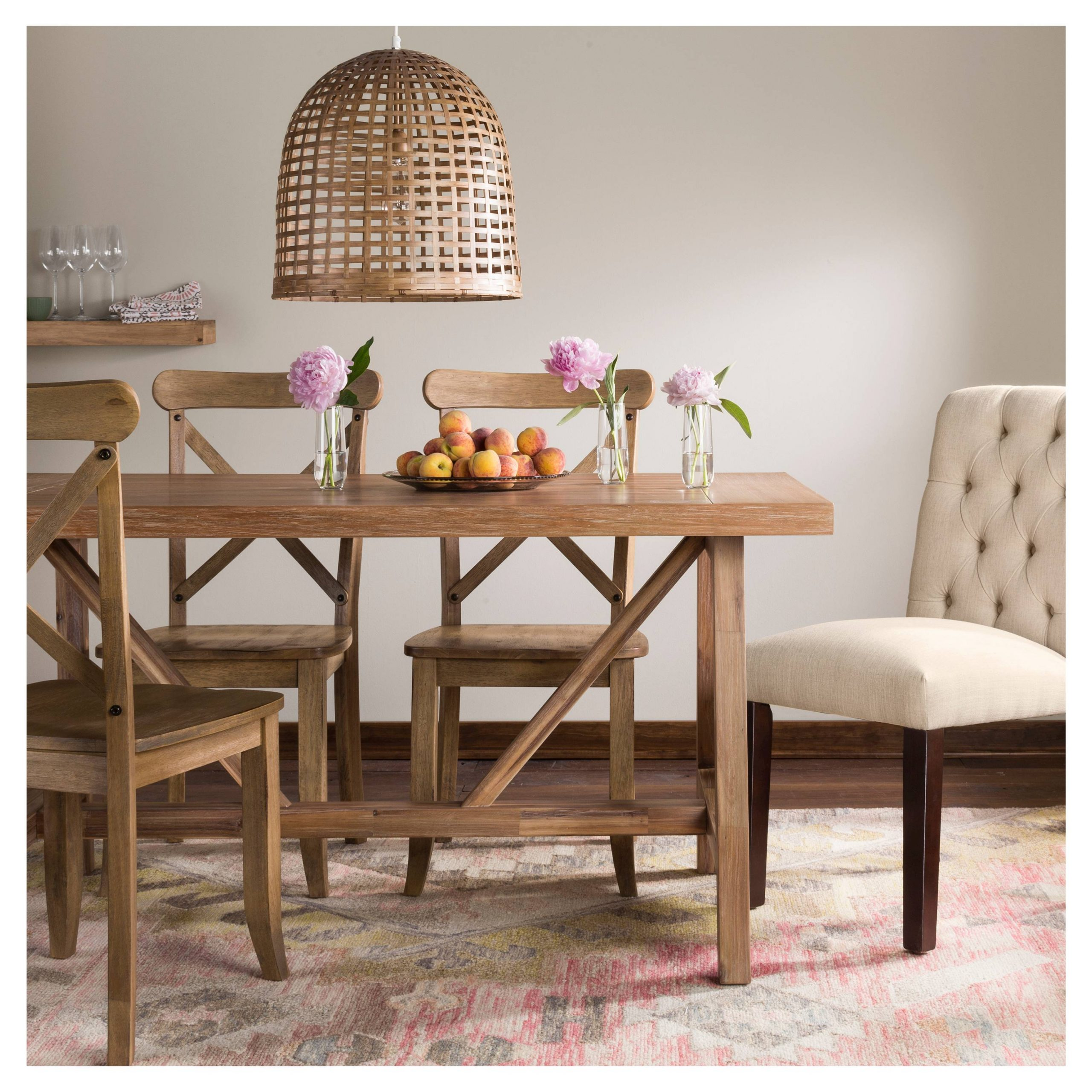 High Or Low // Farmhouse Table Sets - My 100 Year Old Home pertaining to 2019 Seadrift Toscana Dining Tables