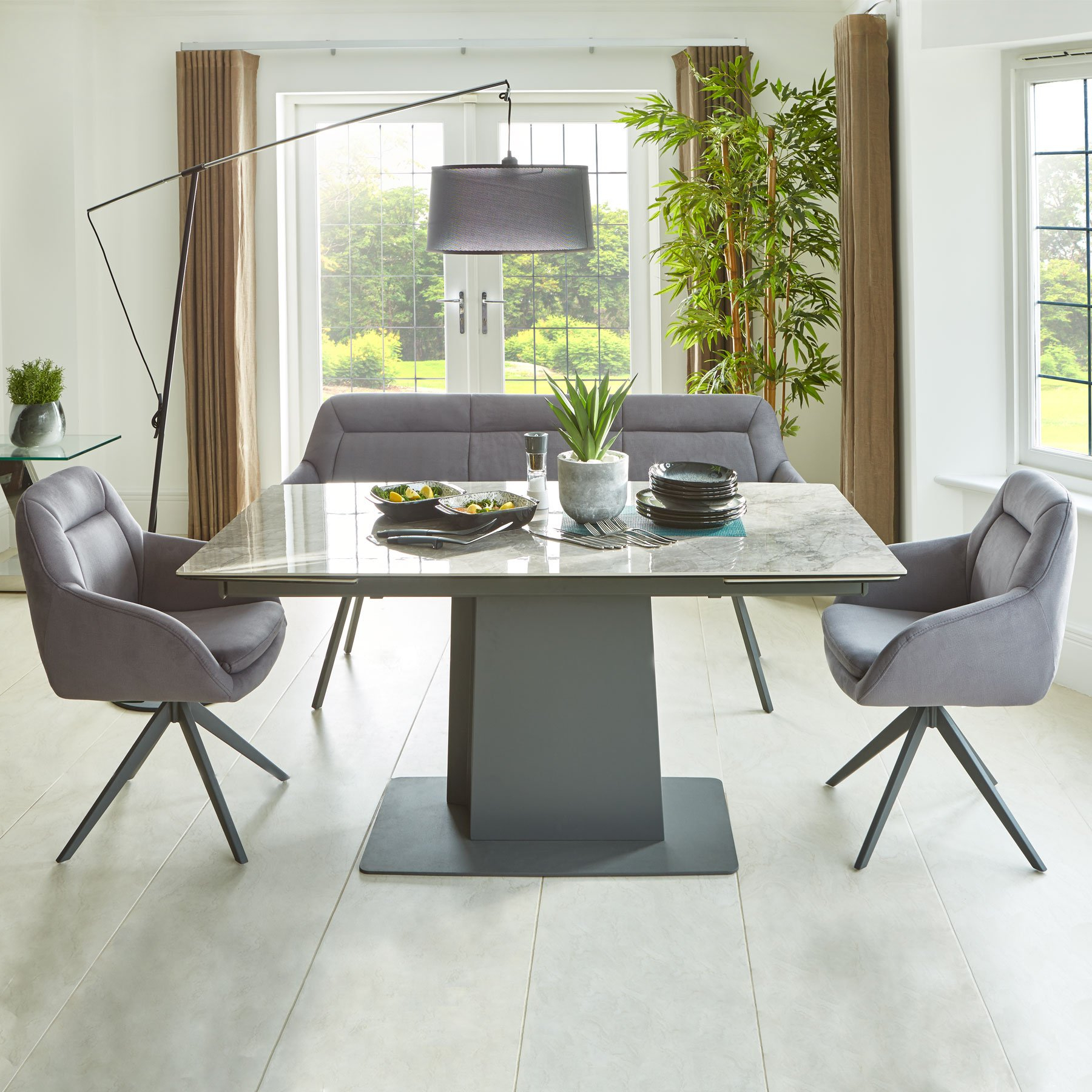 Ideas About Extending Dining Bench, – Howellmagic Dining Intended For Current Alfresco Brown Benchwright Pedestal Extending Dining Tables (View 14 of 25)