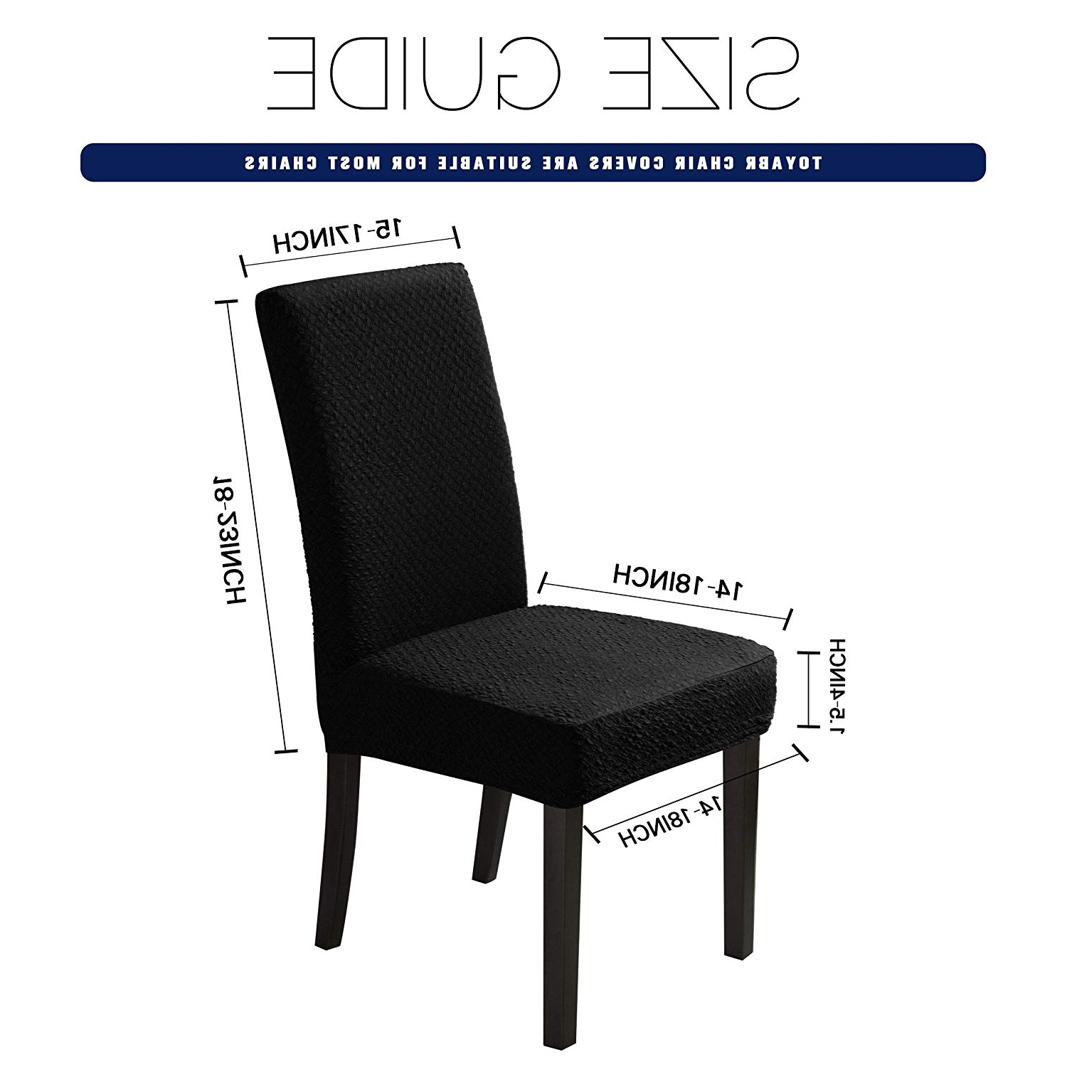 Ingred Extending Dining Tables in Most Up-to-Date Toyabr Dining Chair Covers Seersucker Stretchy Spandex Chair Protecter  Slipcovers For Banquet Wedding Party Dining Room (4Pcs, Black)