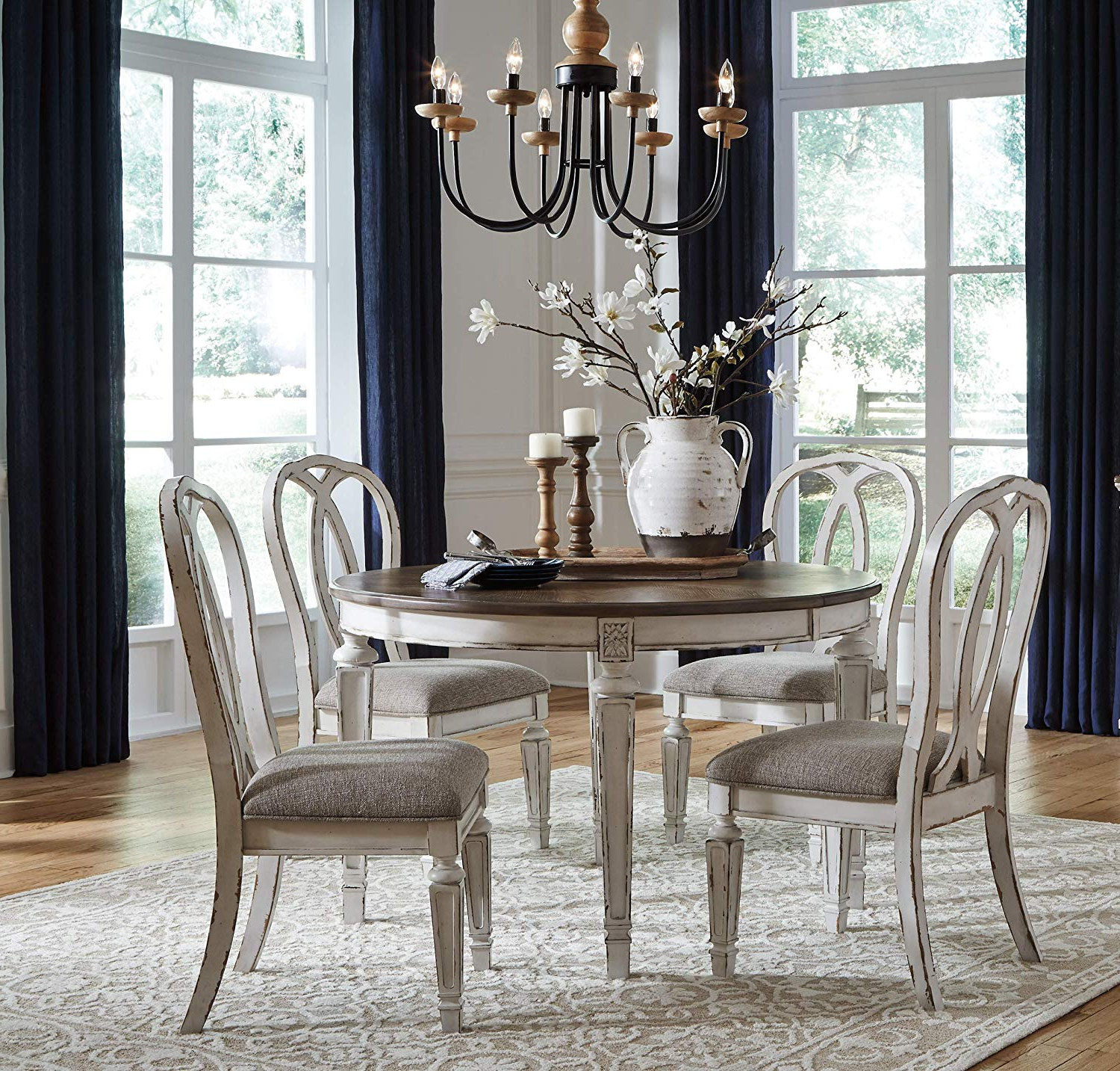 Ingred Extending Dining Tables throughout Latest Amazon - Furnituremaxx Ralinton Casual Wood Chipped