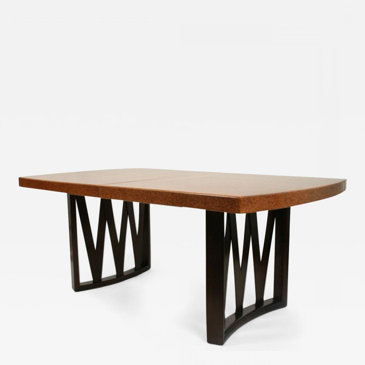 Johnson Round Pedestal Dining Tables Within Well Known Paul Frankl – Cork Top Dining Tablepaul Frankl For Johnson Furniture Co (View 19 of 25)