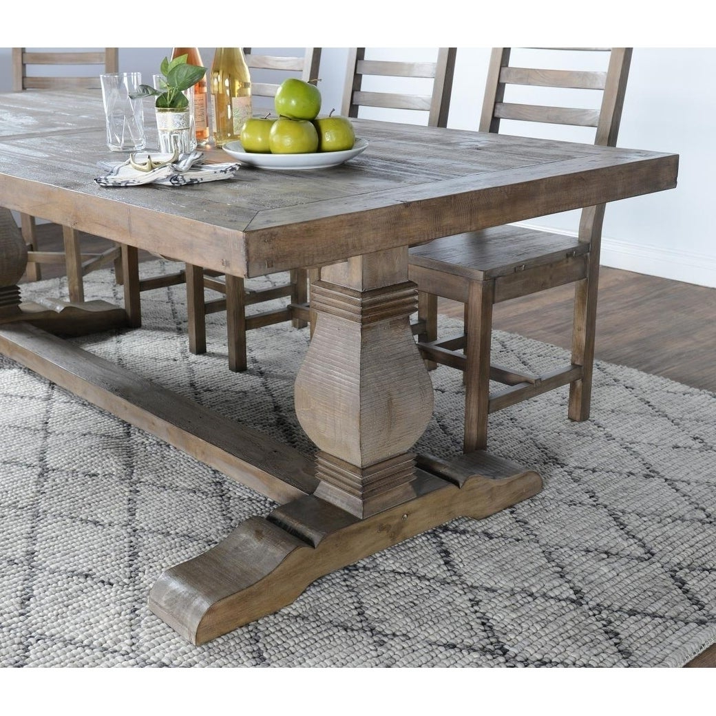 Kasey Reclaimed Wood Dining Tablekosas Home with regard to Most Current Gray Wash Benchwright Dining Tables