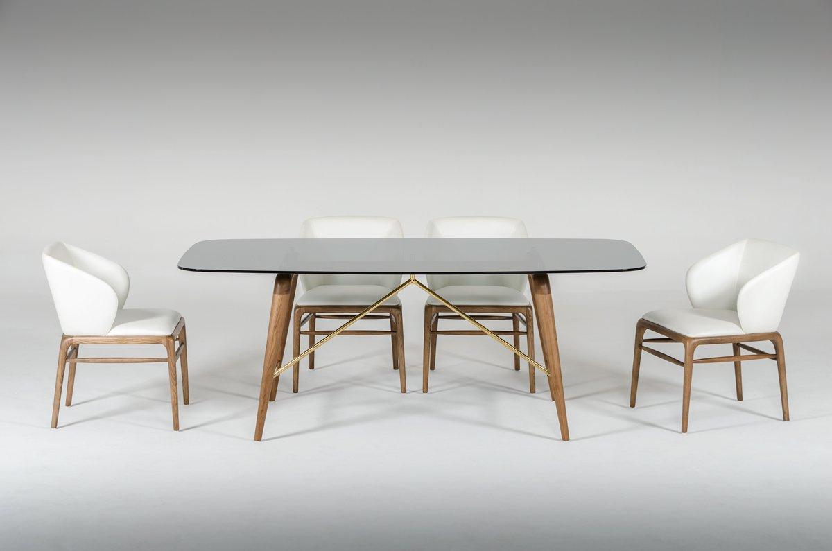 Kipling Rectangular Dining Tables pertaining to Current Amazon - Vig Furniture Modrest Kipling Collection Modern