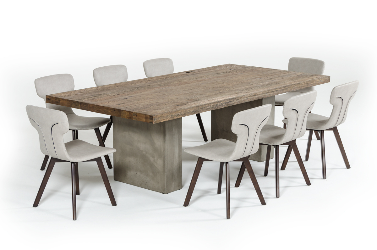 Kipling Rectangular Dining Tables With Widely Used Vig Renzo Oak & Concrete Dining Table (View 22 of 25)