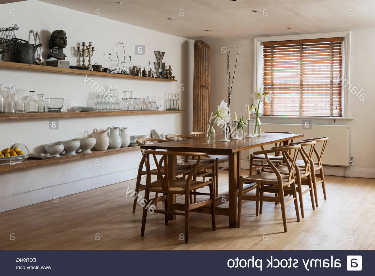 Large Farmhouse Dining Table With Wooden Chairs In Stylish With Well Liked Shaw Dining Tables, English Brown (View 19 of 25)
