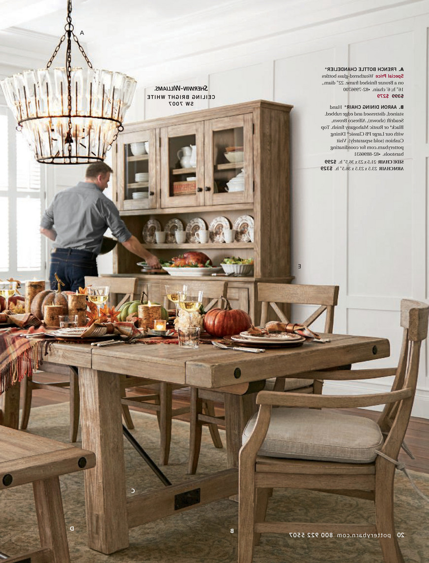 Latest Gray Wash Benchwright Extending Dining Tables Inside Pottery Barn – Fall 2017 D3 – Benchwright Extending Dining (View 24 of 25)
