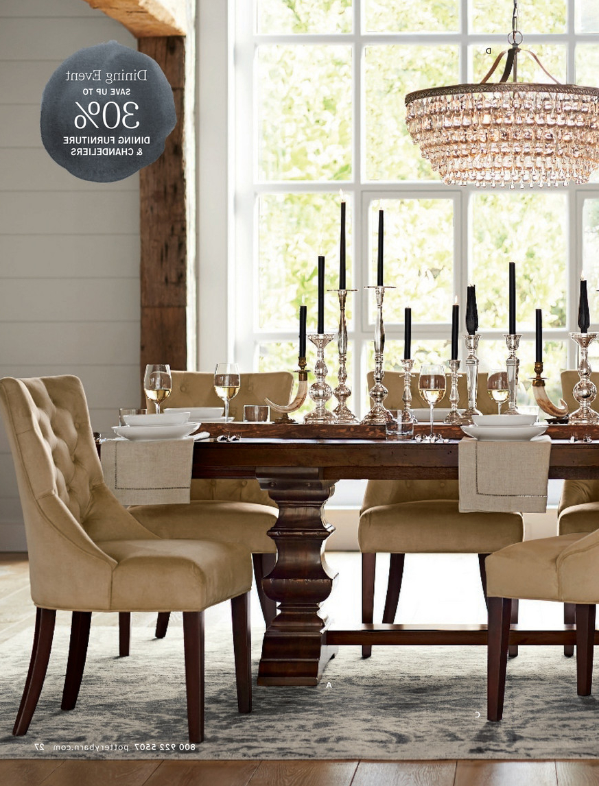 Latest Pottery Barn – Spring 2017 D3 – Banks Extending Dining Table With Regard To Alfresco Brown Banks Pedestal Extending Dining Tables (View 7 of 25)