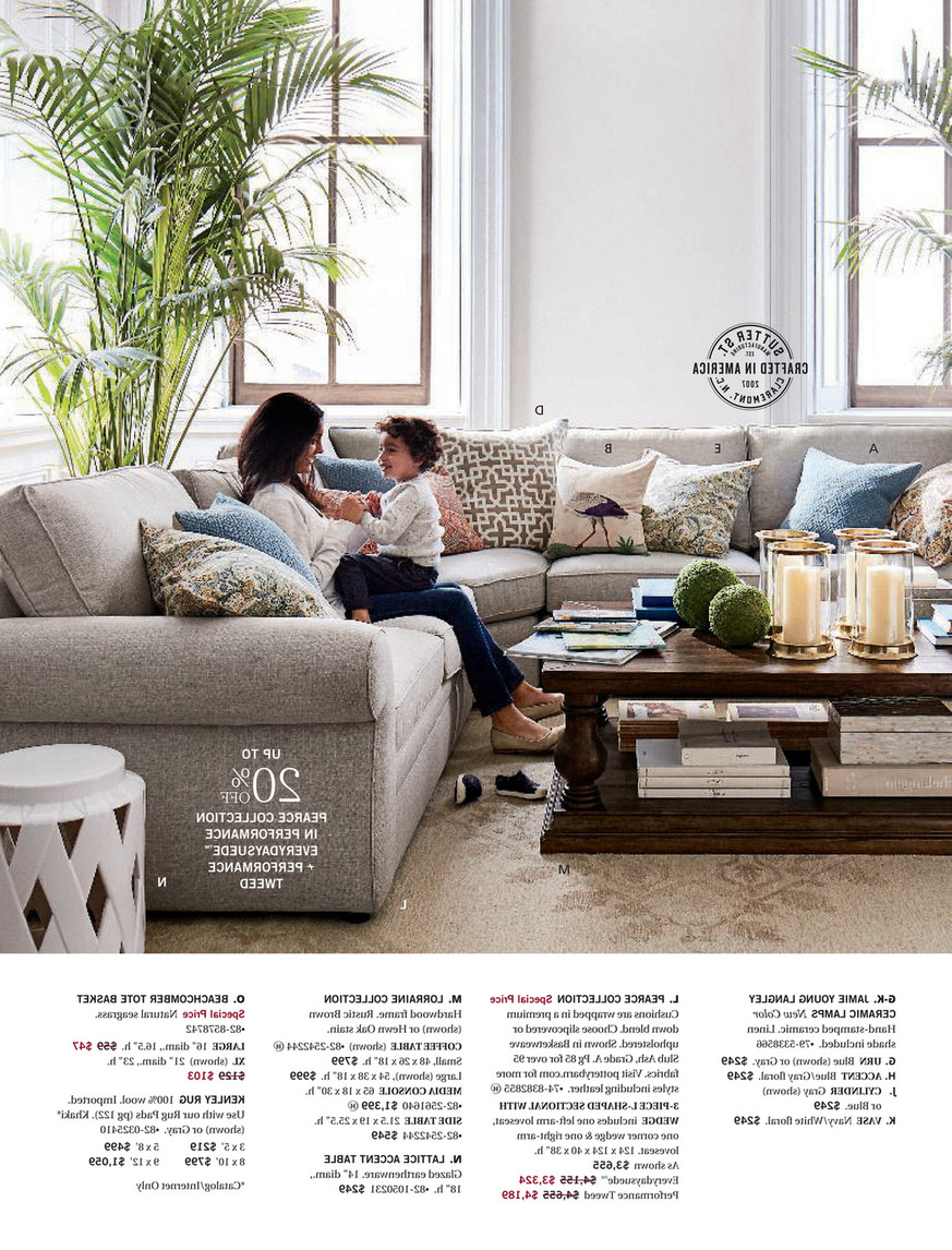 Latest Pottery Barn – Winter 2018 D2 – Linden Pedestal Dining Table In Belgian Gray Linden Extending Dining Tables (View 9 of 25)