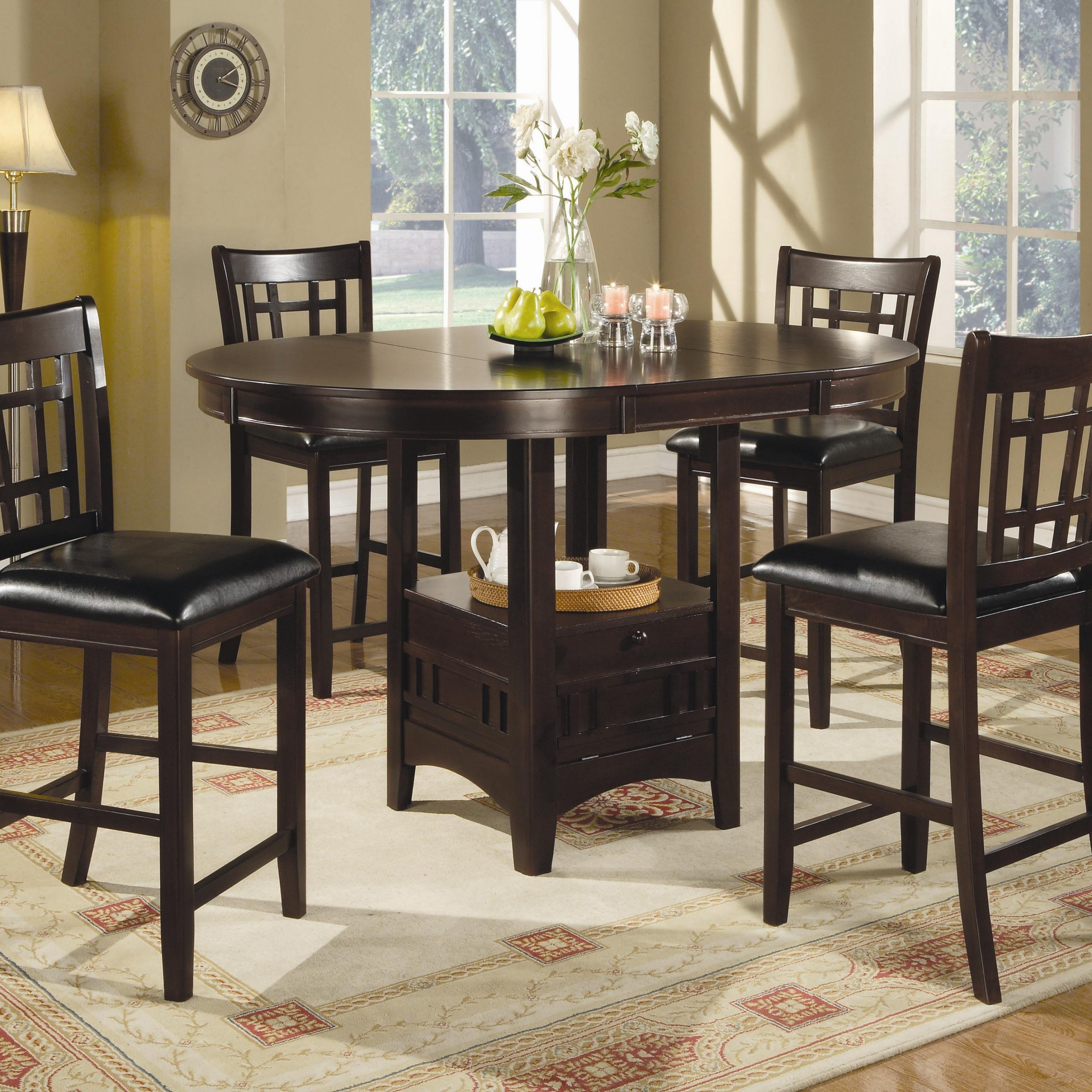 Lavon 7 Piece Counter Table And Chair Set Regarding Most Current Avondale Counter Height Dining Tables (View 15 of 25)