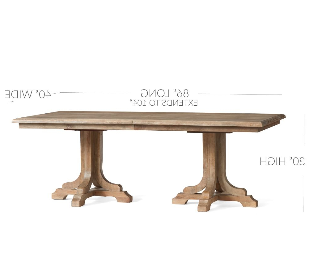 Linden Extending Dining Table In Preferred Gray Wash Benchwright Extending Dining Tables (View 10 of 25)