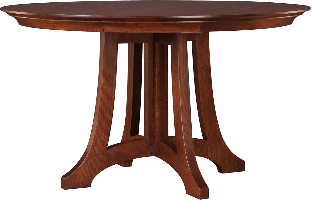 Linden Round Pedestal Dining Tables Regarding Preferred Stickley Highlands Round Dining Table 89 594 46 2Lvs A (View 7 of 25)