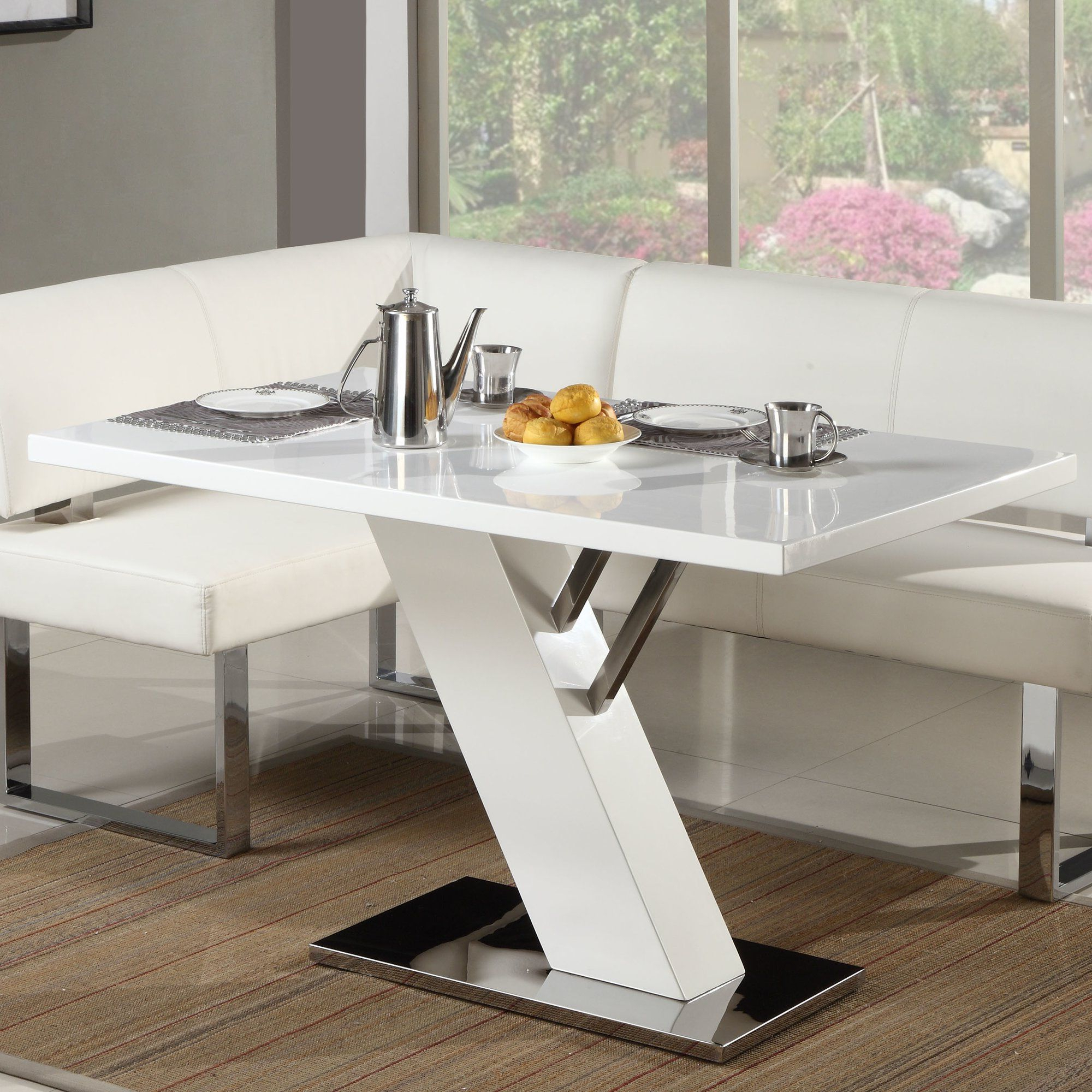 Linden Round Pedestal Dining Tables Throughout Fashionable Linden 2 Piece Breakfast Nook Dining Set In  (View 24 of 25)