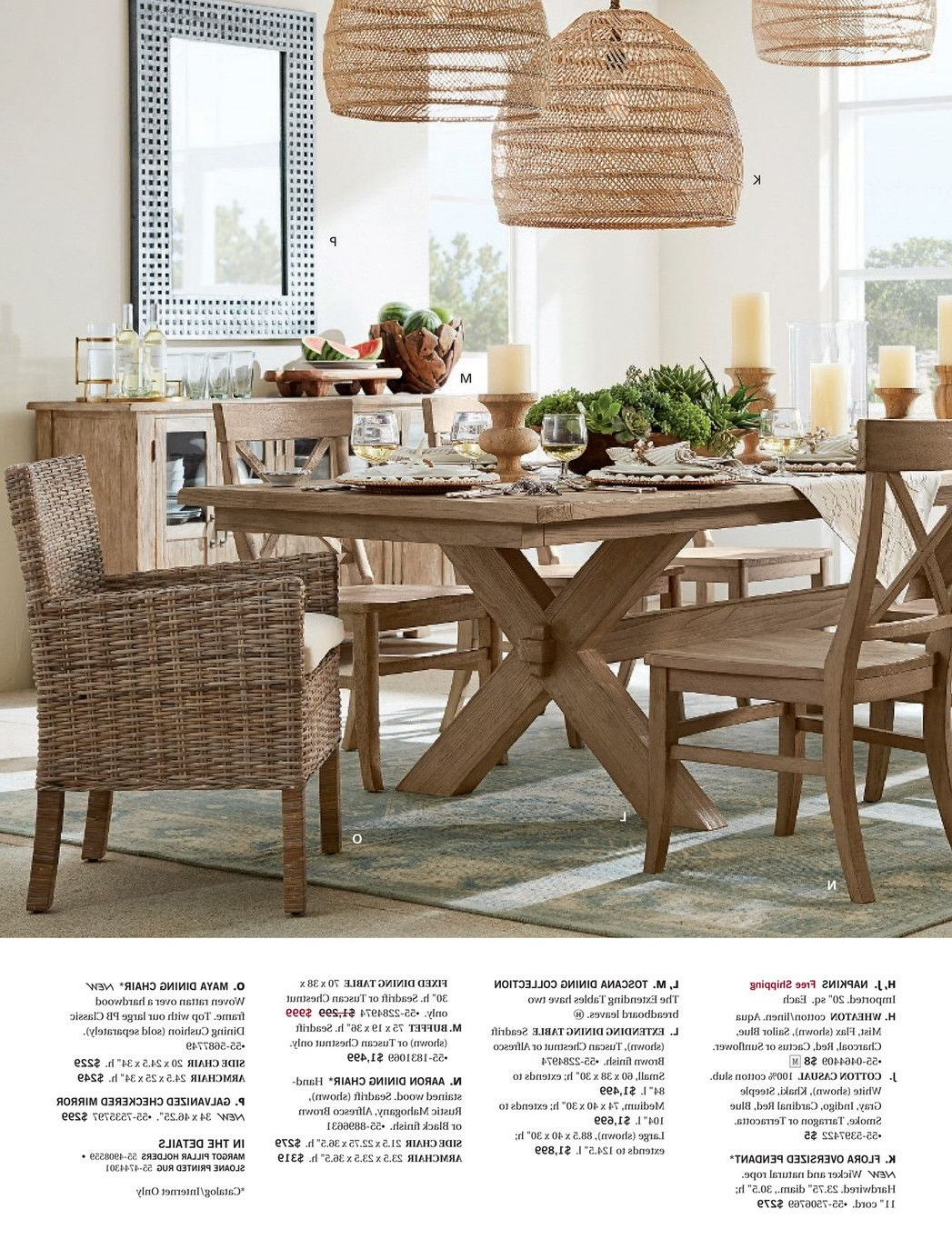 M Ay 2017 Add Some Color Pg 4 Light Up The Night Pg 12 Regarding Recent Seadrift Toscana Pedestal Extending Dining Tables (View 10 of 25)