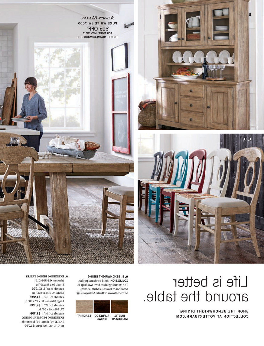 Most Current Alfresco Brown Benchwright Pedestal Extending Dining Tables Within Pottery Barn – Winter 2018 D2 – Benchwright Buffet, Seadrift (View 6 of 25)