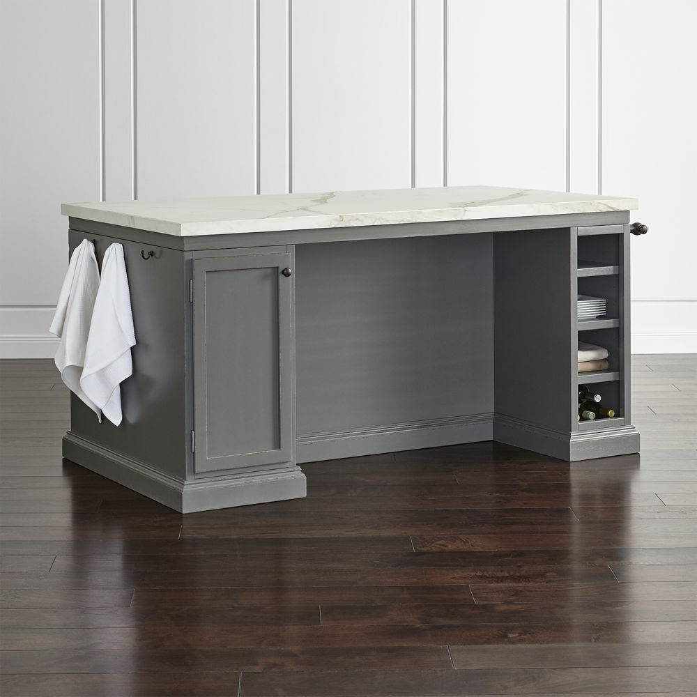 "Most Current Elworth Kitchen Island Inside Cameo 72"" Large Kitchen Island – Crate And Barrel (View 8 of 25)"