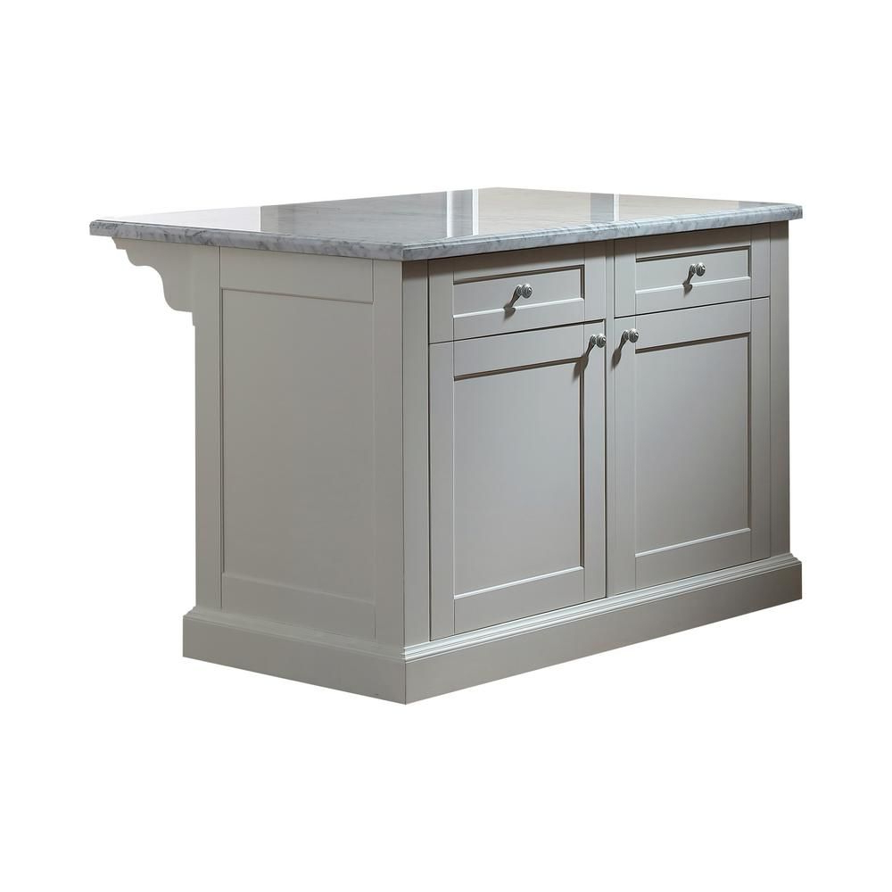 Most Current Elworth Kitchen Island With Regard To Martha Stewart Living Maidstone 54 In (View 5 of 25)