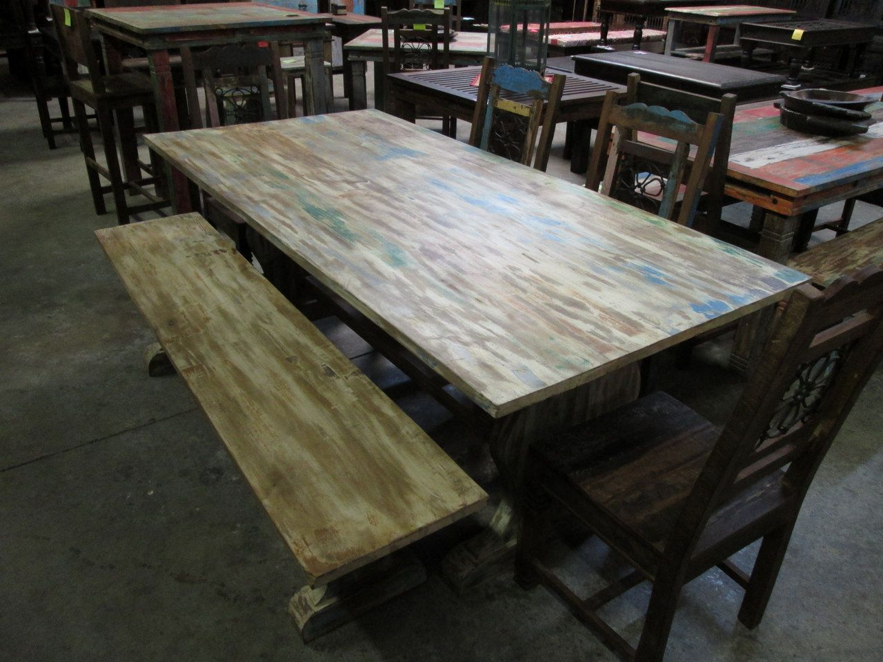 Most Popular Herran Dining Tables Inside Hand Crafted Indian Teak Furniture Made In India! Visit Our (View 14 of 25)