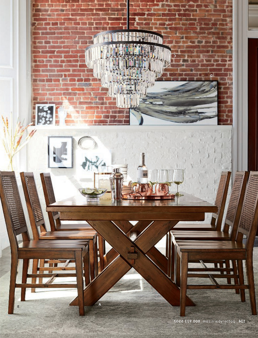 Most Popular Pottery Barn – Fall 2017 D1 – Toscana Extending Dining Table Throughout Tuscan Chestnut Toscana Pedestal Extending Dining Tables (View 7 of 25)