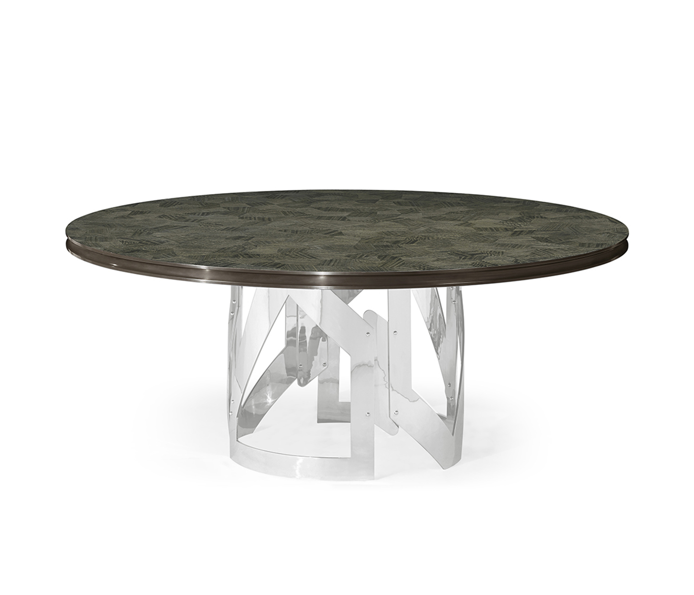 "Most Recent 72"" Gatsby Contemporary Round Grey Natural Eucalyptus With Regard To Icarus Round Bar Tables (View 19 of 25)"