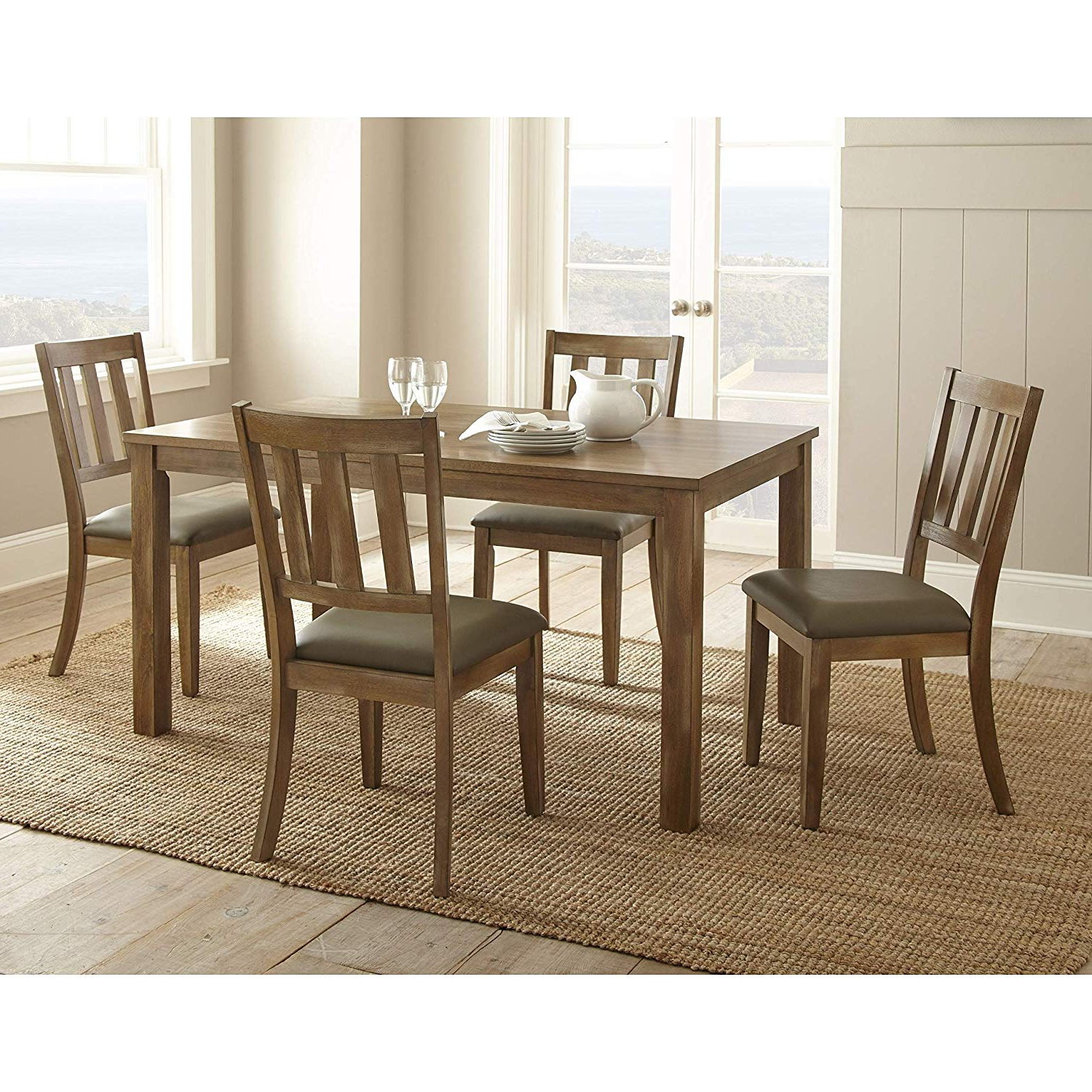 Most Recent Amazon – Greyson Living Avondale Brown Wood And Faux Regarding Avondale Dining Tables (View 11 of 25)