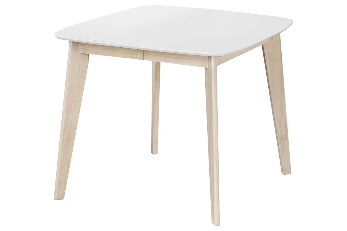 Most Recent Ingred Extending Dining Tables Pertaining To Leena Scandinavian Extendable Square Dining Table In White (View 16 of 25)