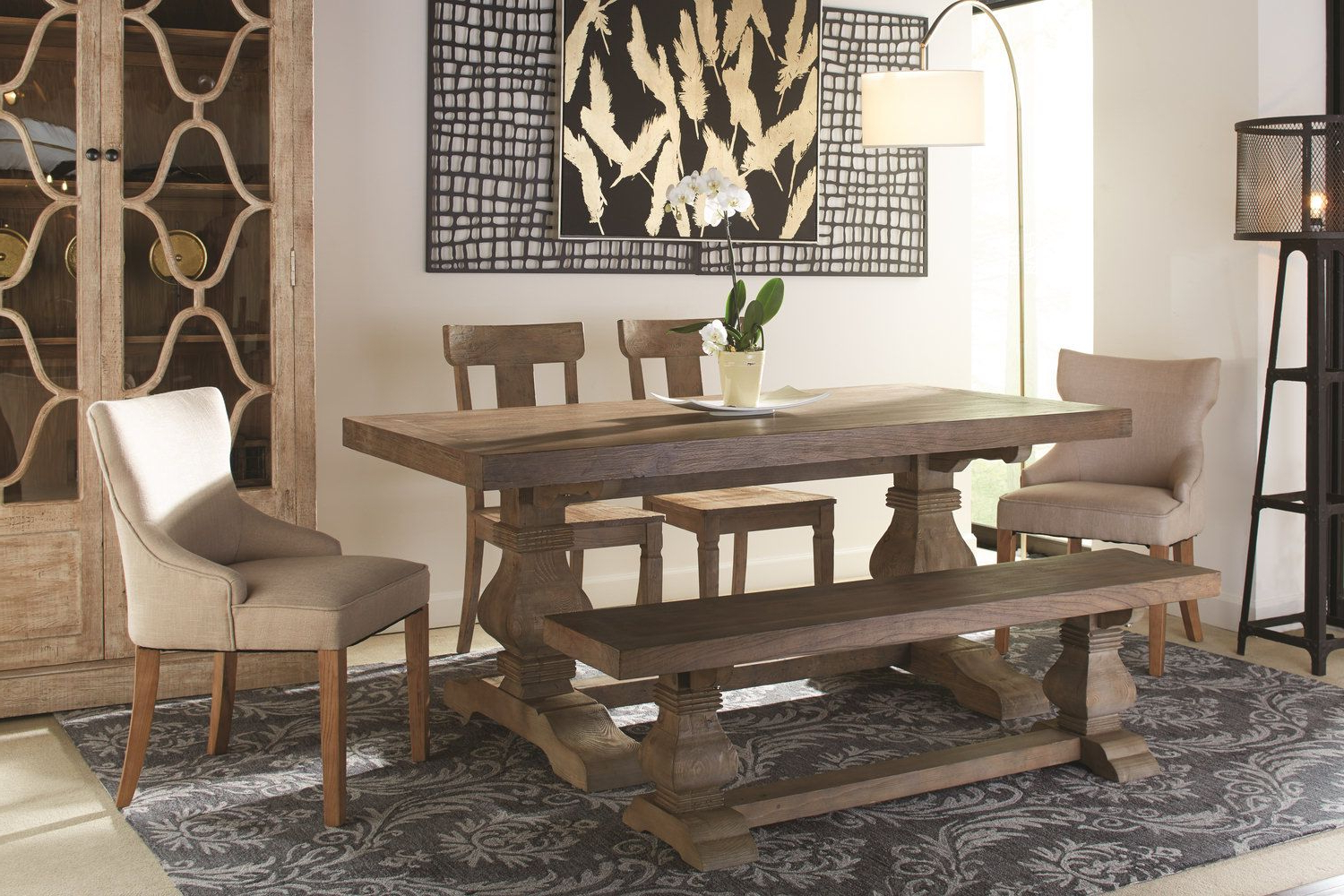 Most Recent Lucy Bar Height Dining Tables With Emma Dining Table With 2 Lucy Chairs 2 Emma Chairs And (View 12 of 25)
