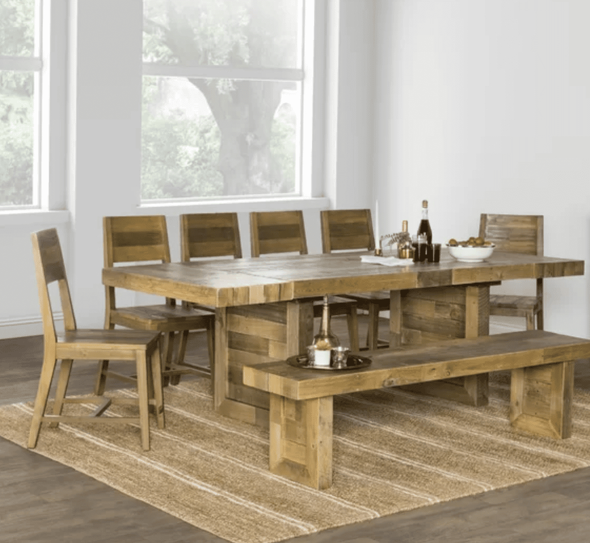 Most Recently Released Rustic Brown Lorraine Pedestal Extending Dining Tables Throughout The 9 Best Dining Room Tables Of (View 11 of 25)