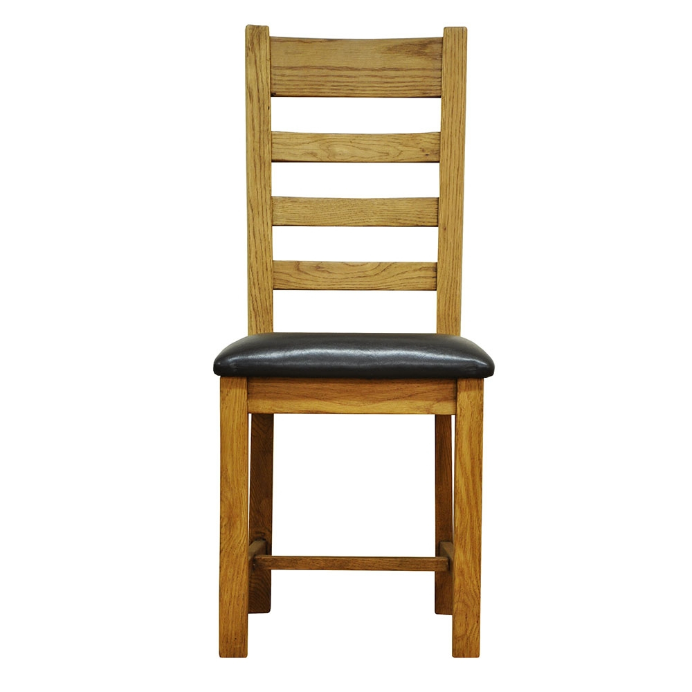 Most Recently Released Stafford Ladder Back Chair Pu Seat For Stafford Reclaimed Extending Dining Tables (View 19 of 25)