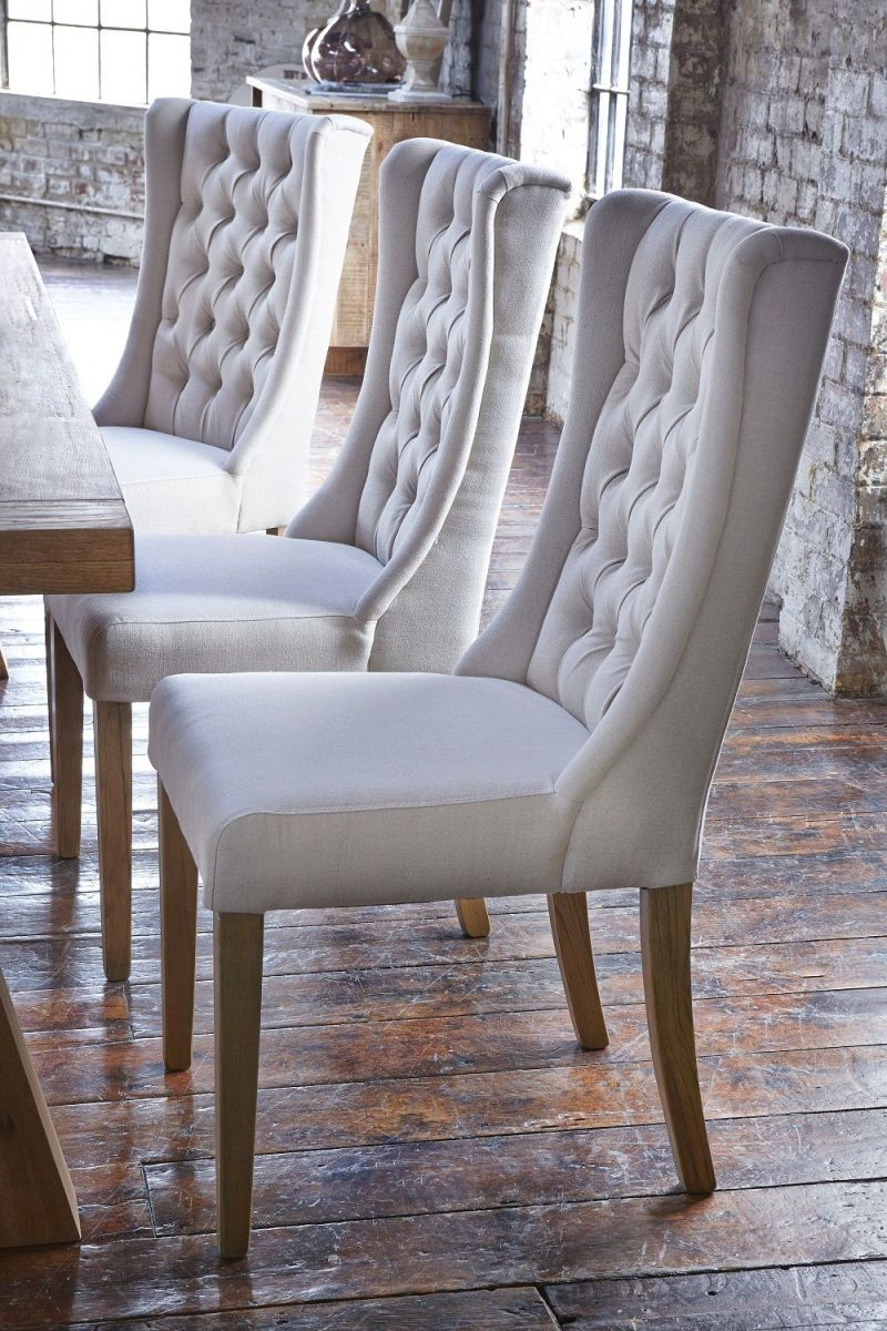 Most Up To Date Kipling Fabric Dining Chair, Cream & Oak – Barker In Kipling Rectangular Dining Tables (View 13 of 25)