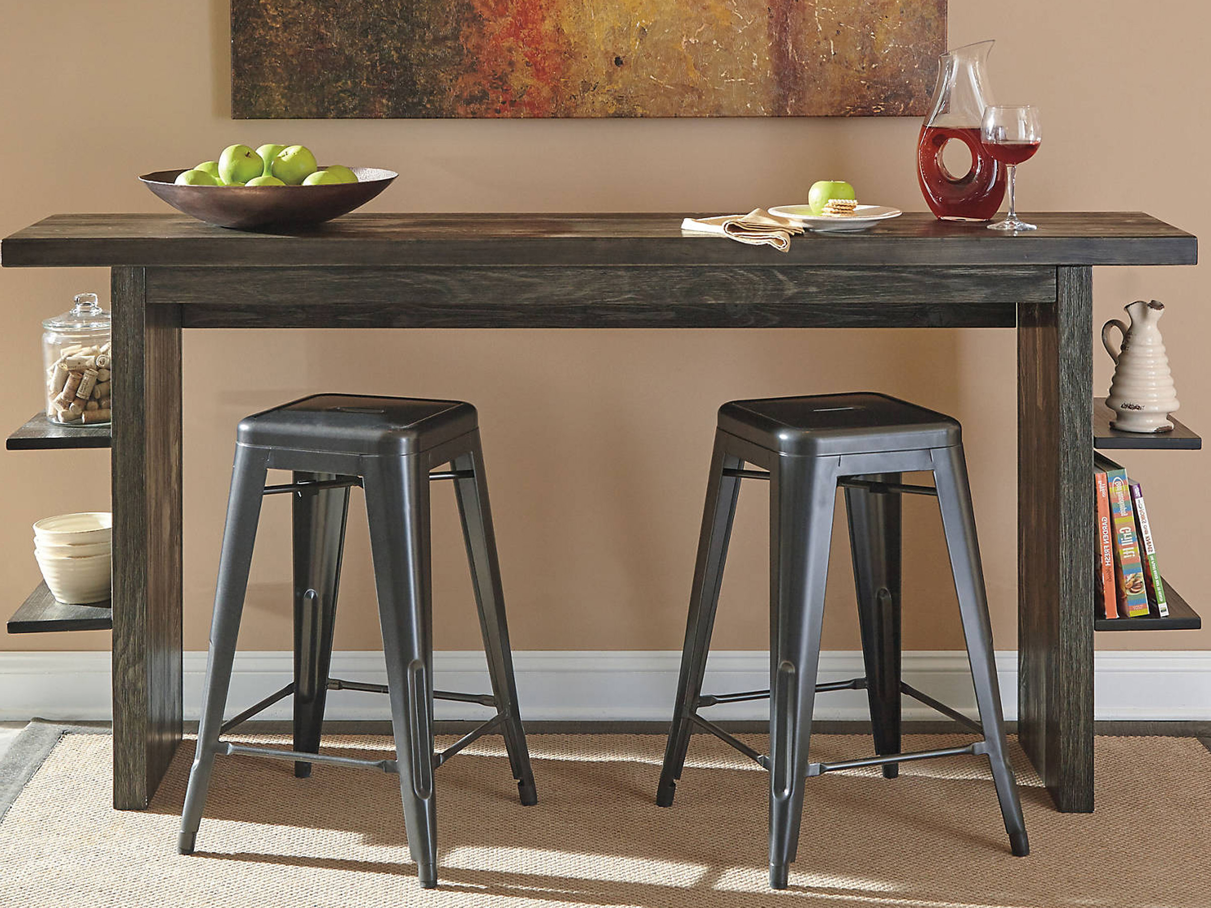 Most Up To Date Lucy Bar Height Dining Tables Intended For Lucy – Dark Gray – Long Counter Table (View 6 of 25)