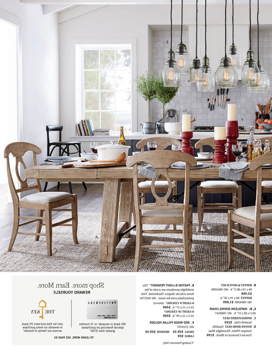 Most Up To Date Pottery Barn – Winter 2018 D2 – Benchwright Buffet, Seadrift Inside Alfresco Brown Benchwright Pedestal Extending Dining Tables (View 21 of 25)