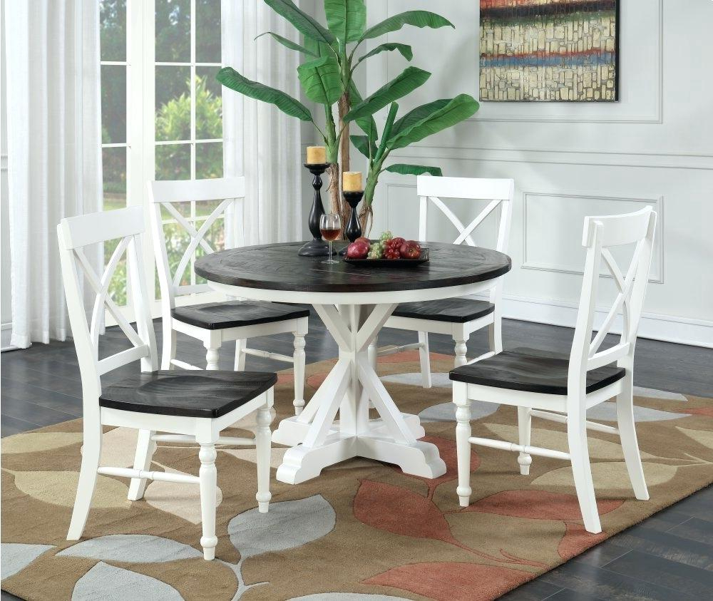 Newest Antique White Round Dining Table – Blogie for Weathered Gray Owen Pedestal Extending Dining Tables