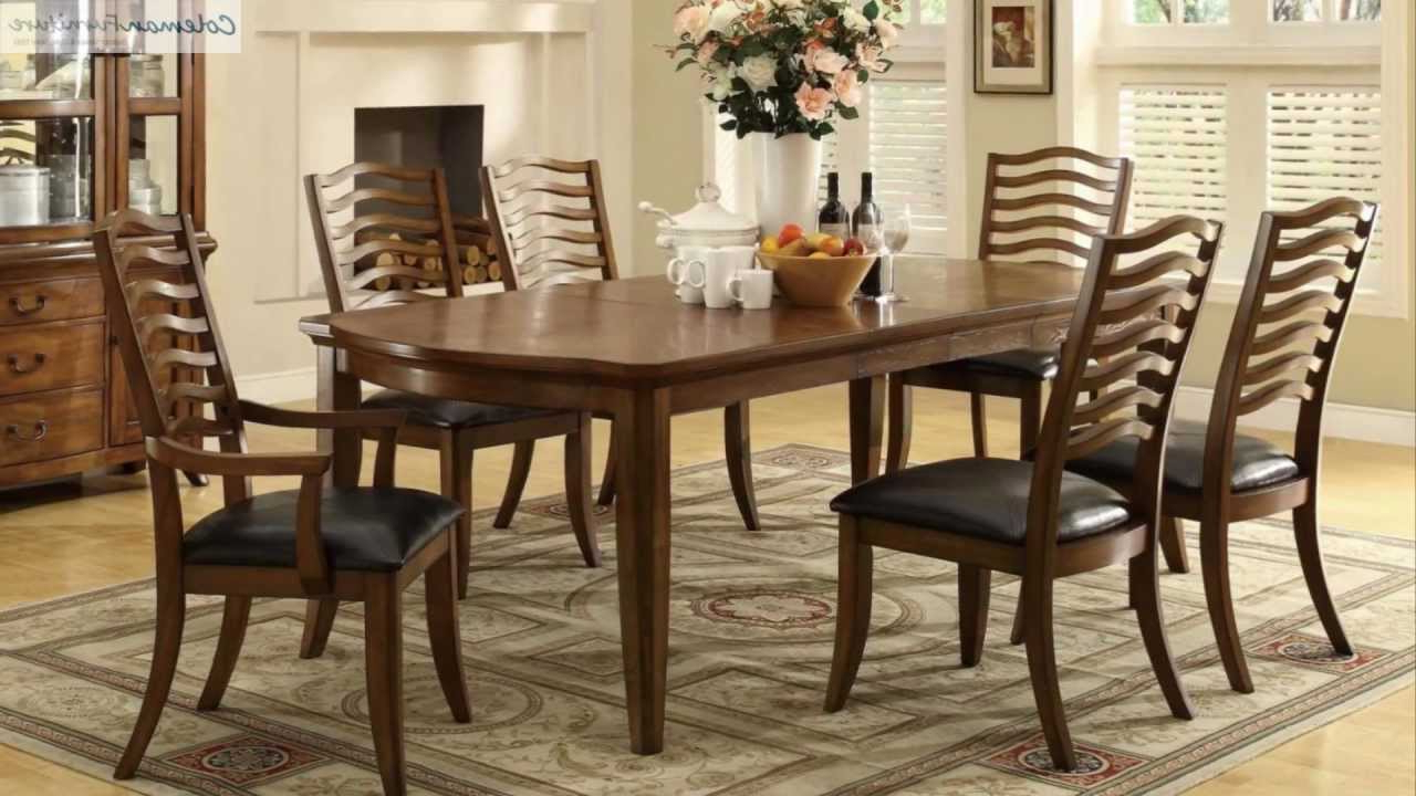 Newest Avery Rectangular Dining Tables with regard to Avery Oak Rectangular Dining Room Collection From Coaster Furniture