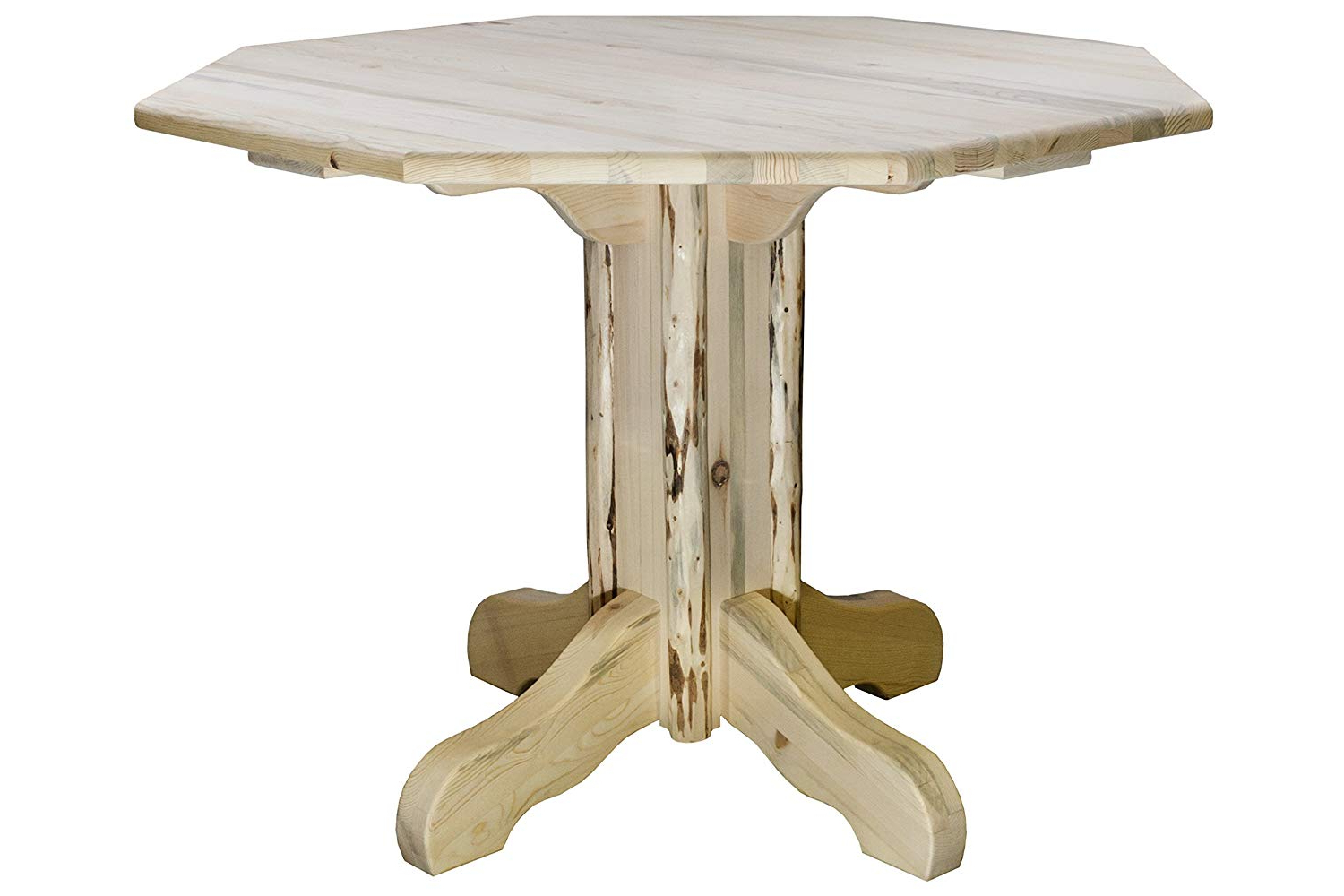 Newest Aztec Round Pedestal Dining Tables Throughout Amazon: Montana Woodworks Mwpt Octagonal Montana (View 11 of 25)