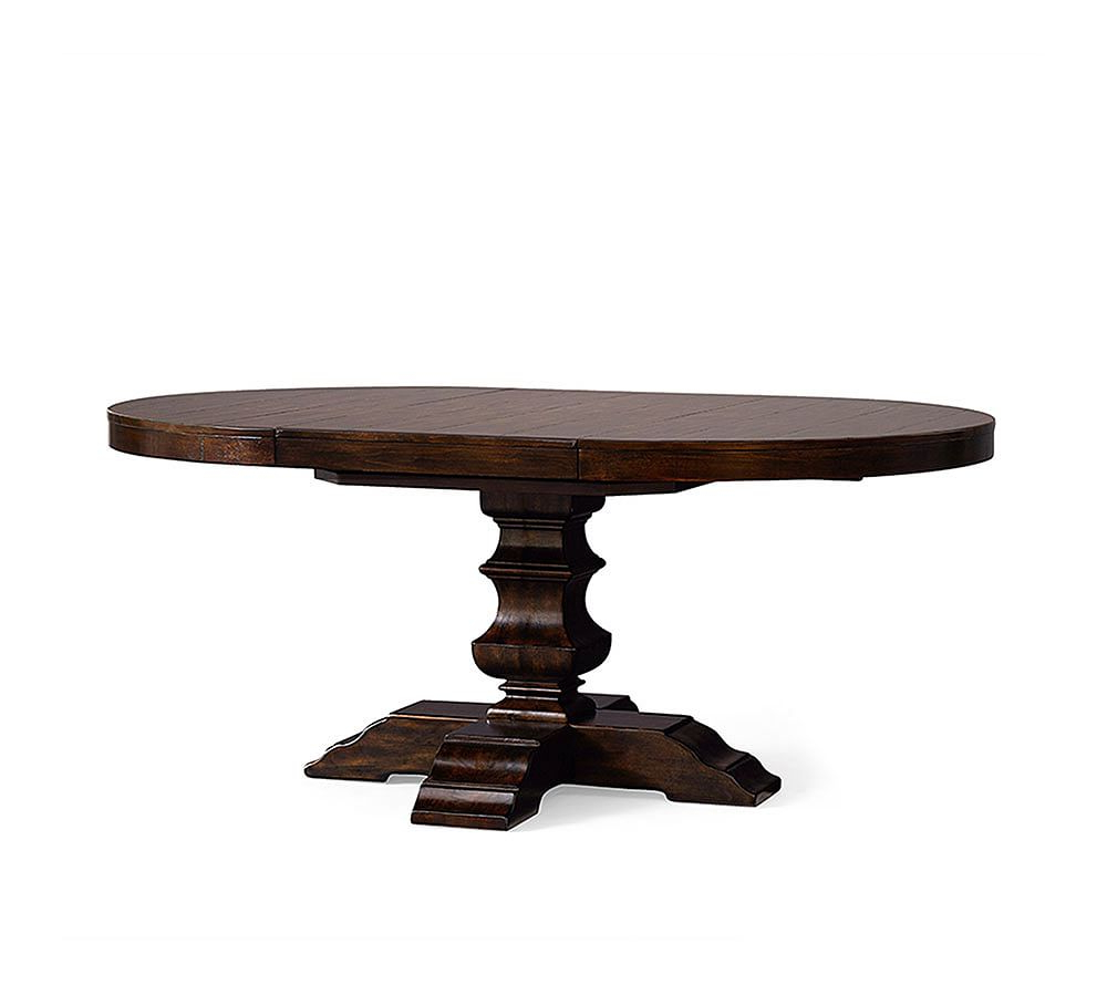 Newest Banks Extending Pedestal Dining Table, Alfresco Brown In for Alfresco Brown Banks Extending Dining Tables