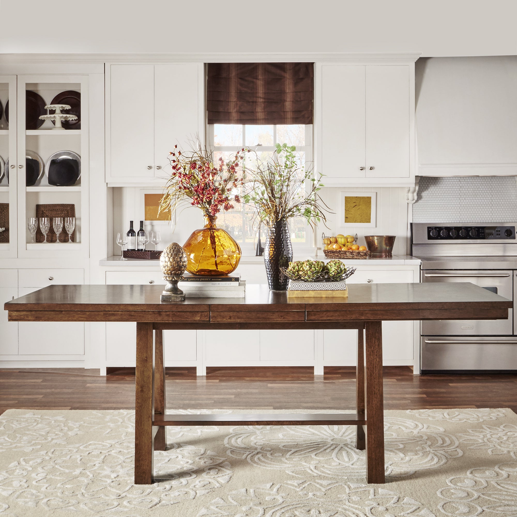 Newest Bartol Reclaimed Dining Tables for Bartol Warm Brown Mission Counter-Height Extending Dining Table