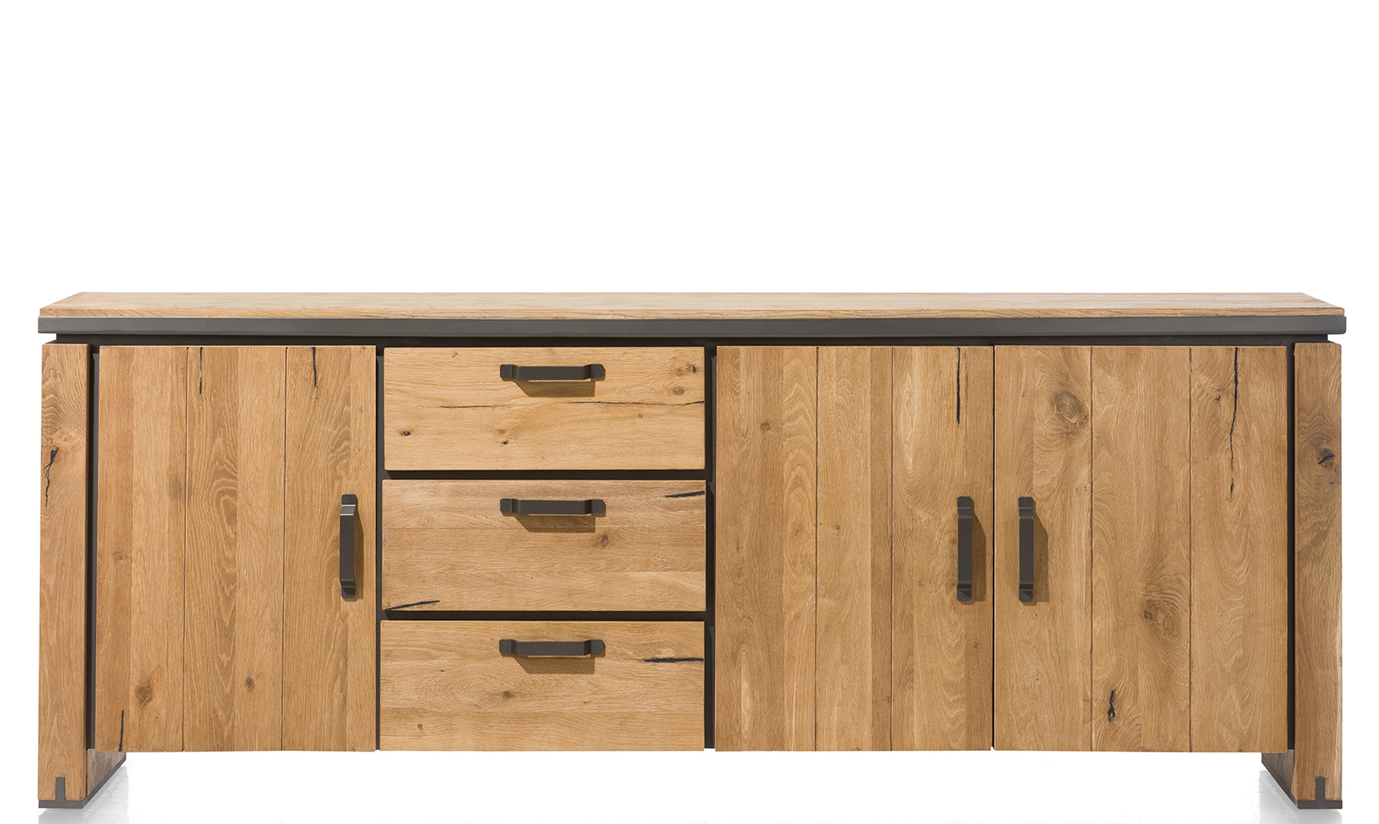 Newest Benchwright Bar Height Dining Tables with regard to Benchwright - 210Cm 3 Door 3 Drawer Sideboard