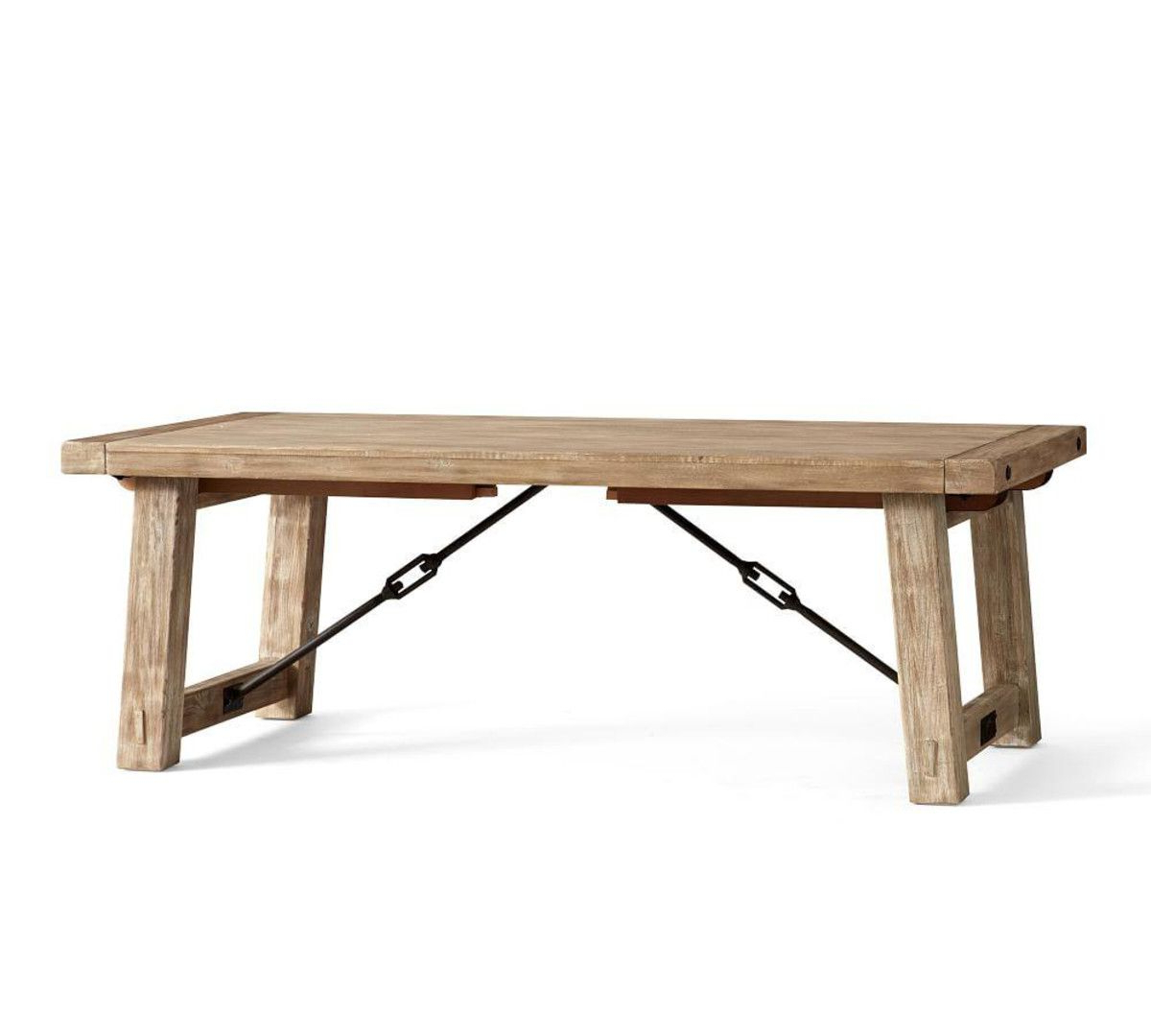 Newest Benchwright Extending Dining Table, Seadrift