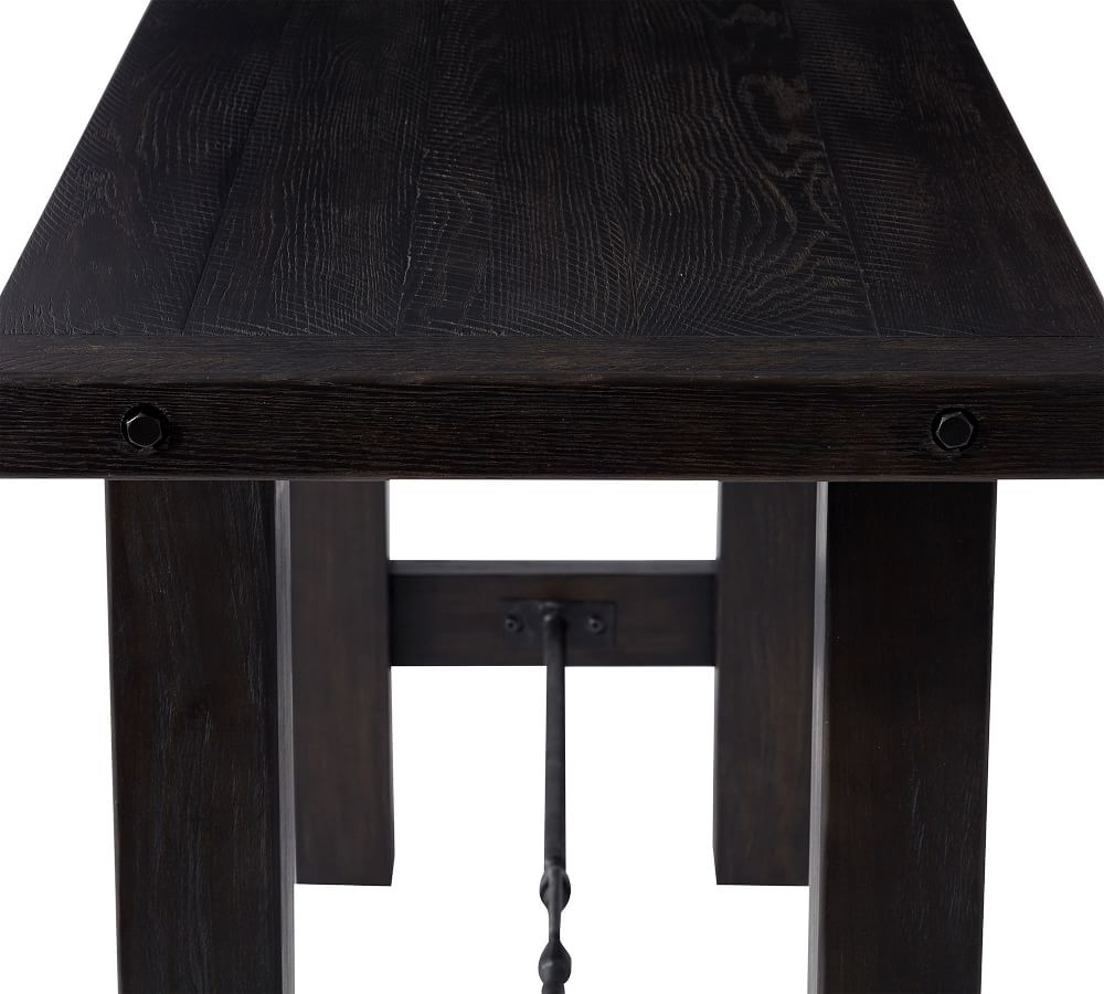 Newest Blackened Oak Benchwright Dining Tables throughout Benchwright Bar Height Dining Table