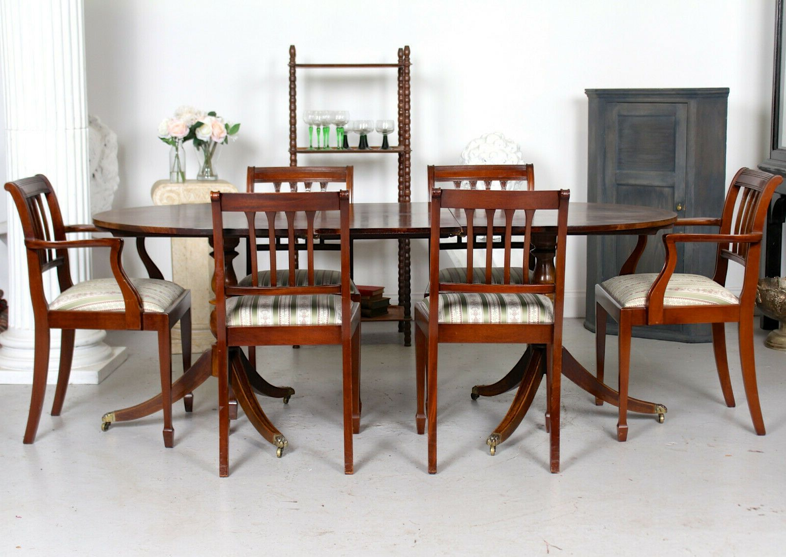 Newest Mahogany Shayne Drop-Leaf Kitchen Tables within Antique Mahogany Dining Table And 6 Chairs Fine Quality