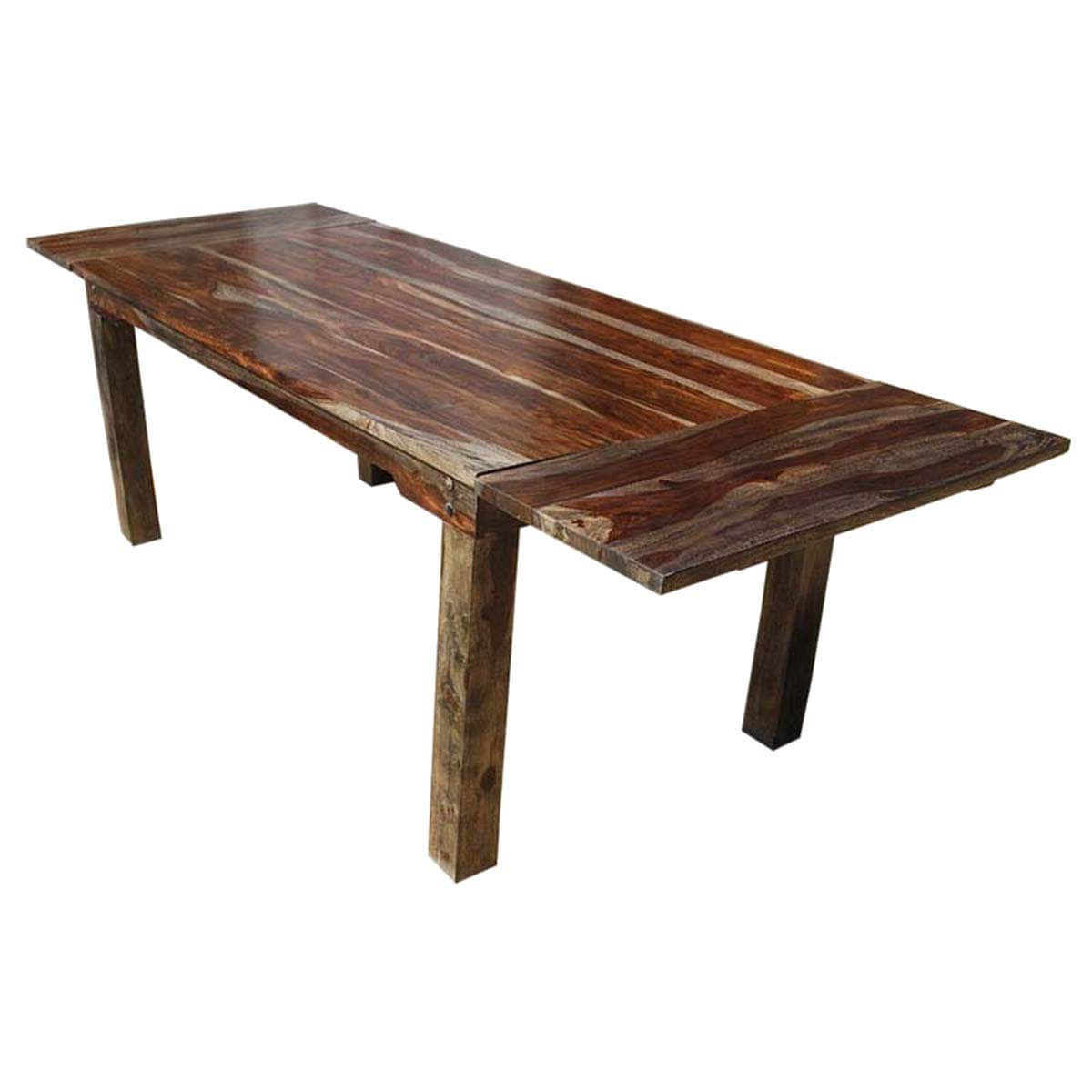 Newest Rustic Large Cariboo Extendable Dining Table with Rustic Mahogany Extending Dining Tables