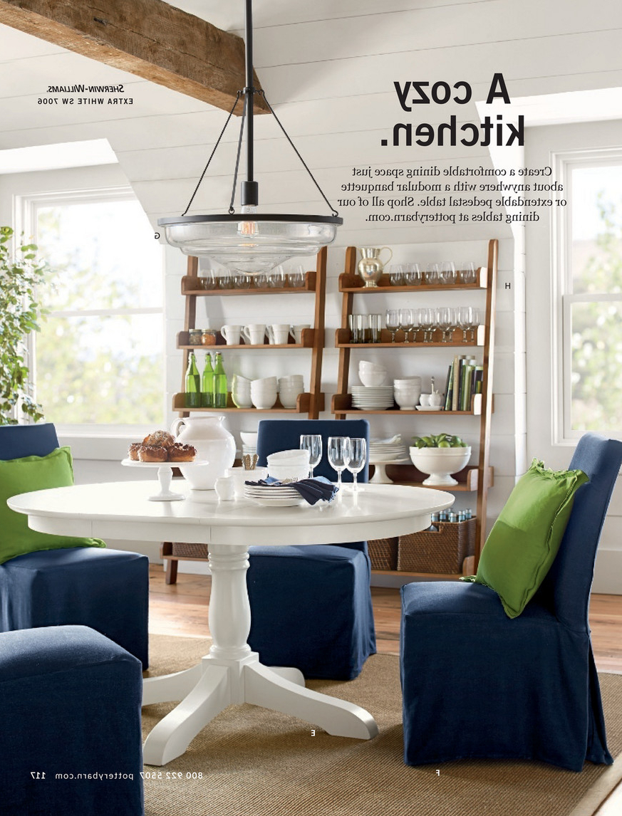 Popular Salvaged Black Shayne Drop Leaf Kitchen Tables Throughout Pottery Barn – Spring 2017 D2 – Shayne Round Drop Leaf (View 19 of 25)