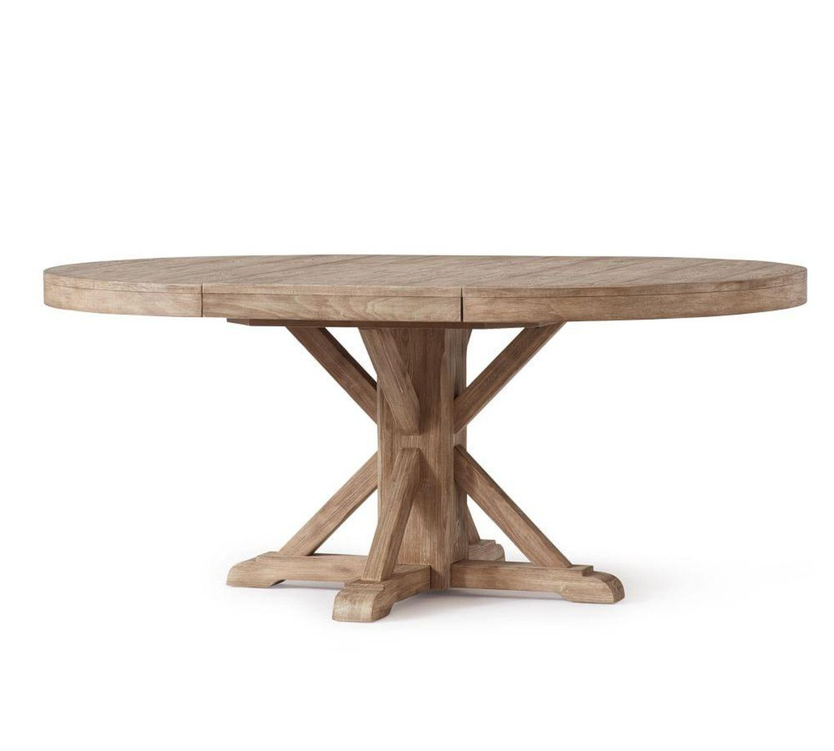 Featured Photo of Seadrift Benchwright Pedestal Extending Dining Tables