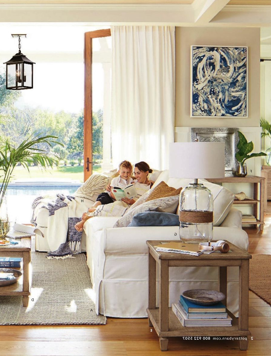 Pottery Barn April 2017Pottery Barn Within Well Known Seadrift Toscana Pedestal Extending Dining Tables (View 18 of 25)